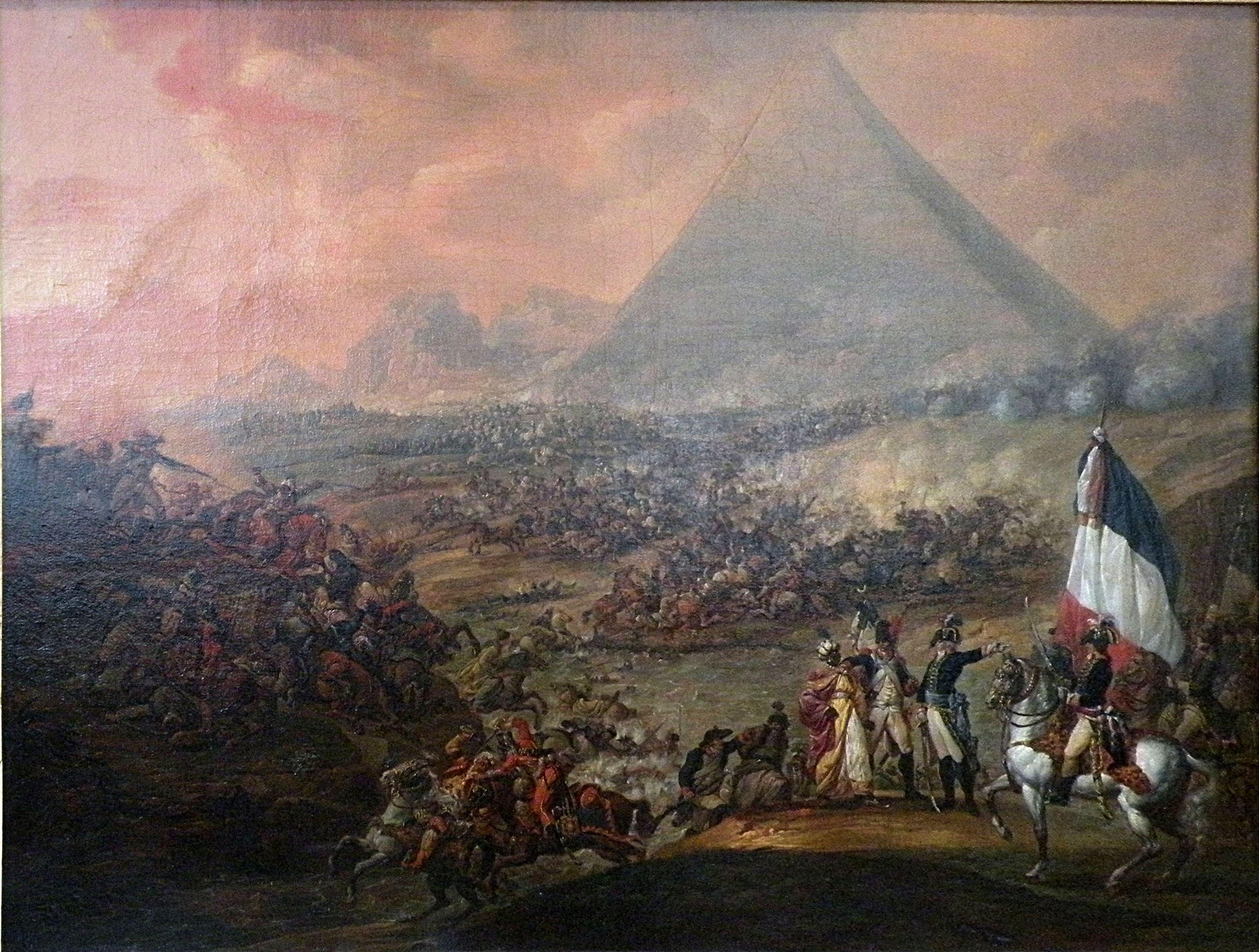 Francois-Louis-Joseph Watteau's depiction of the Battle of the Pyramids.