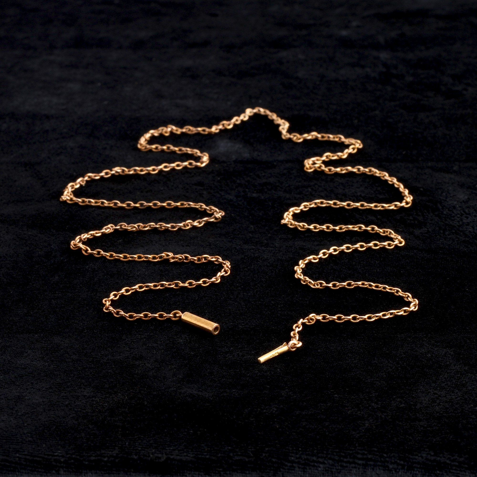 """Victorian 27"""" Rose Gold Cable Chain"""