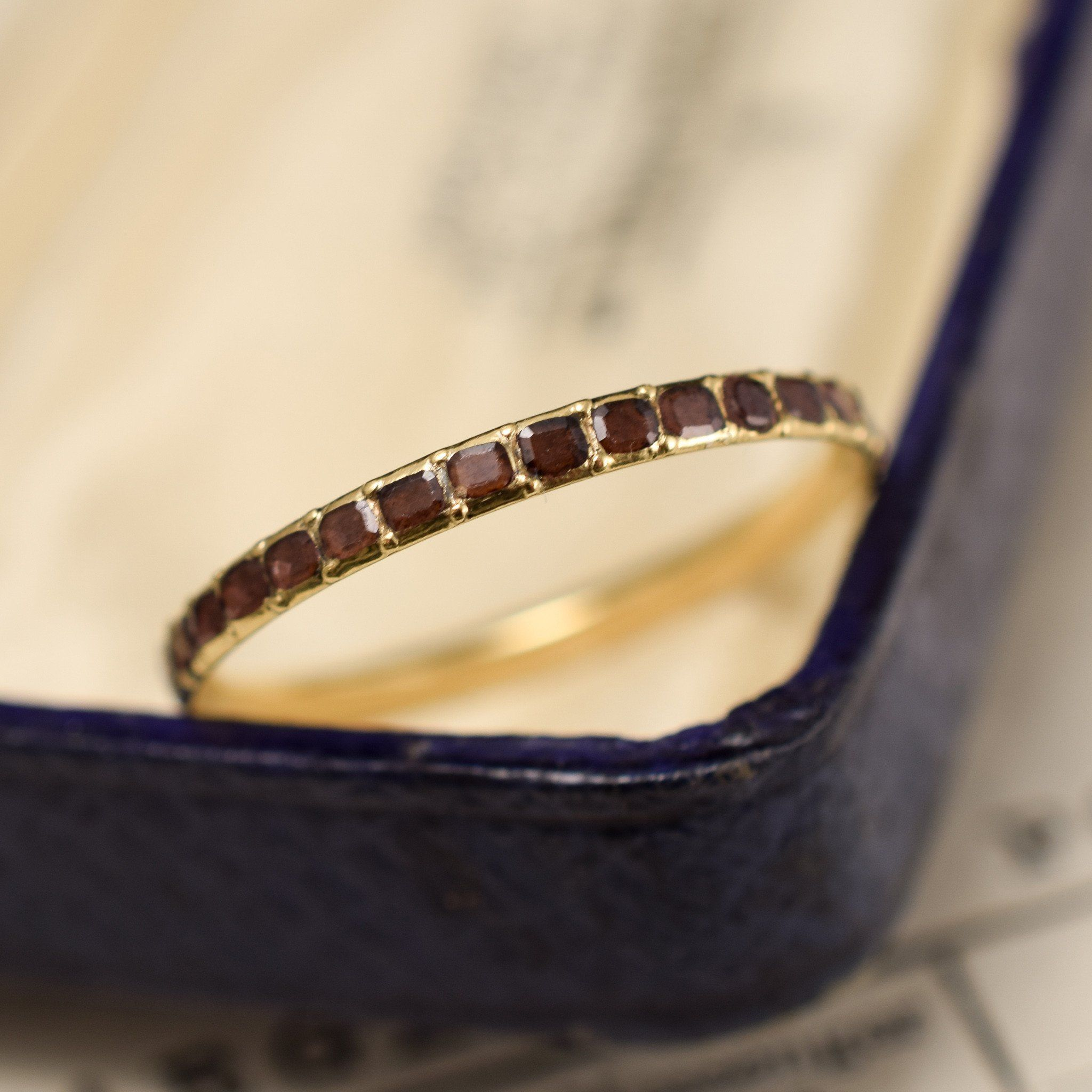 Slim Georgian Garnet Eternity Ring