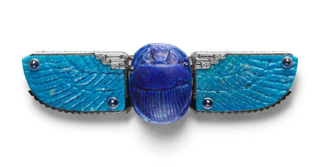 Scarab belt buckle, 1926, Cartier, Cooper-Hewitt Museum.