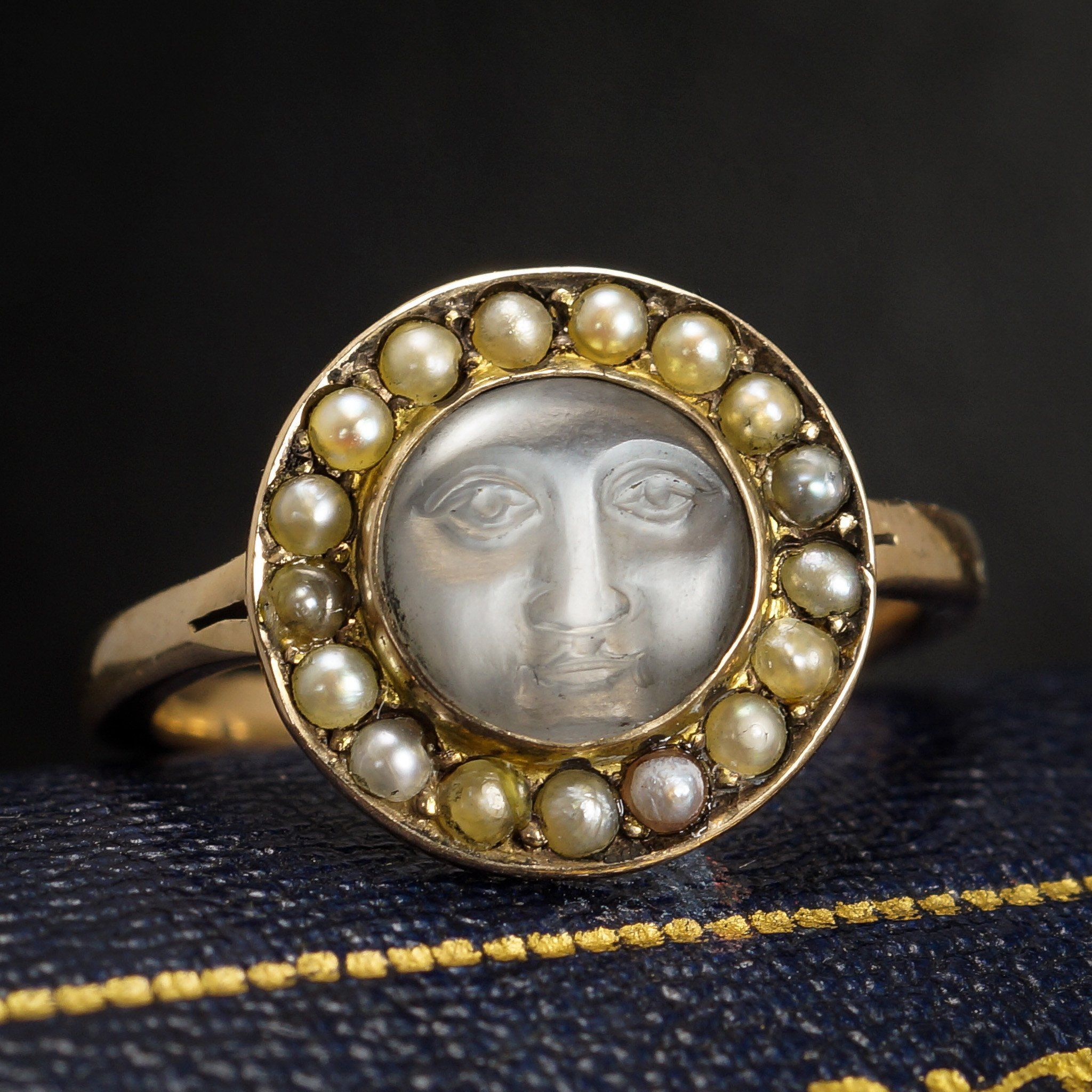 Edwardian Man in the Moon Ring