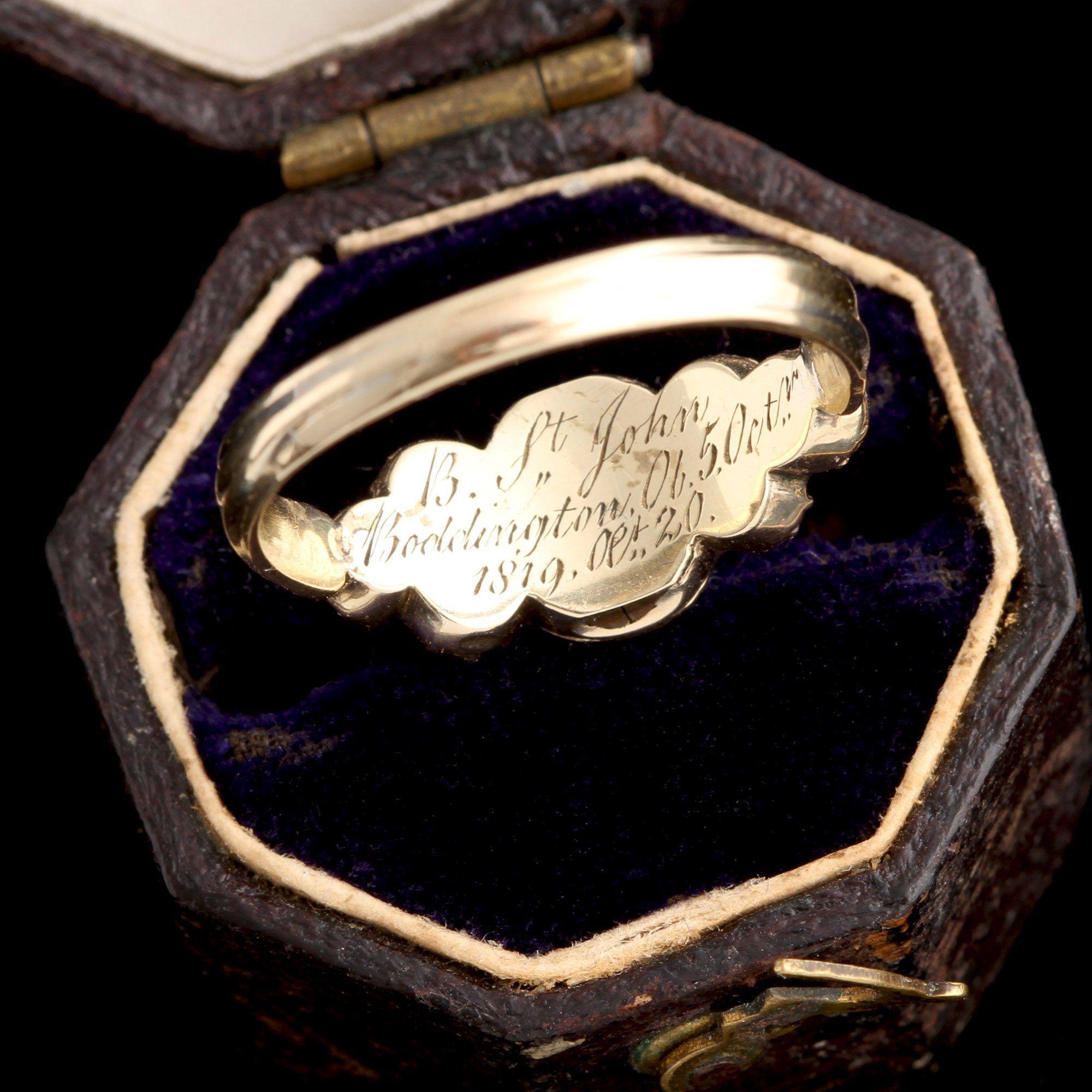 Georgian Paste & Agate Mourning Ring