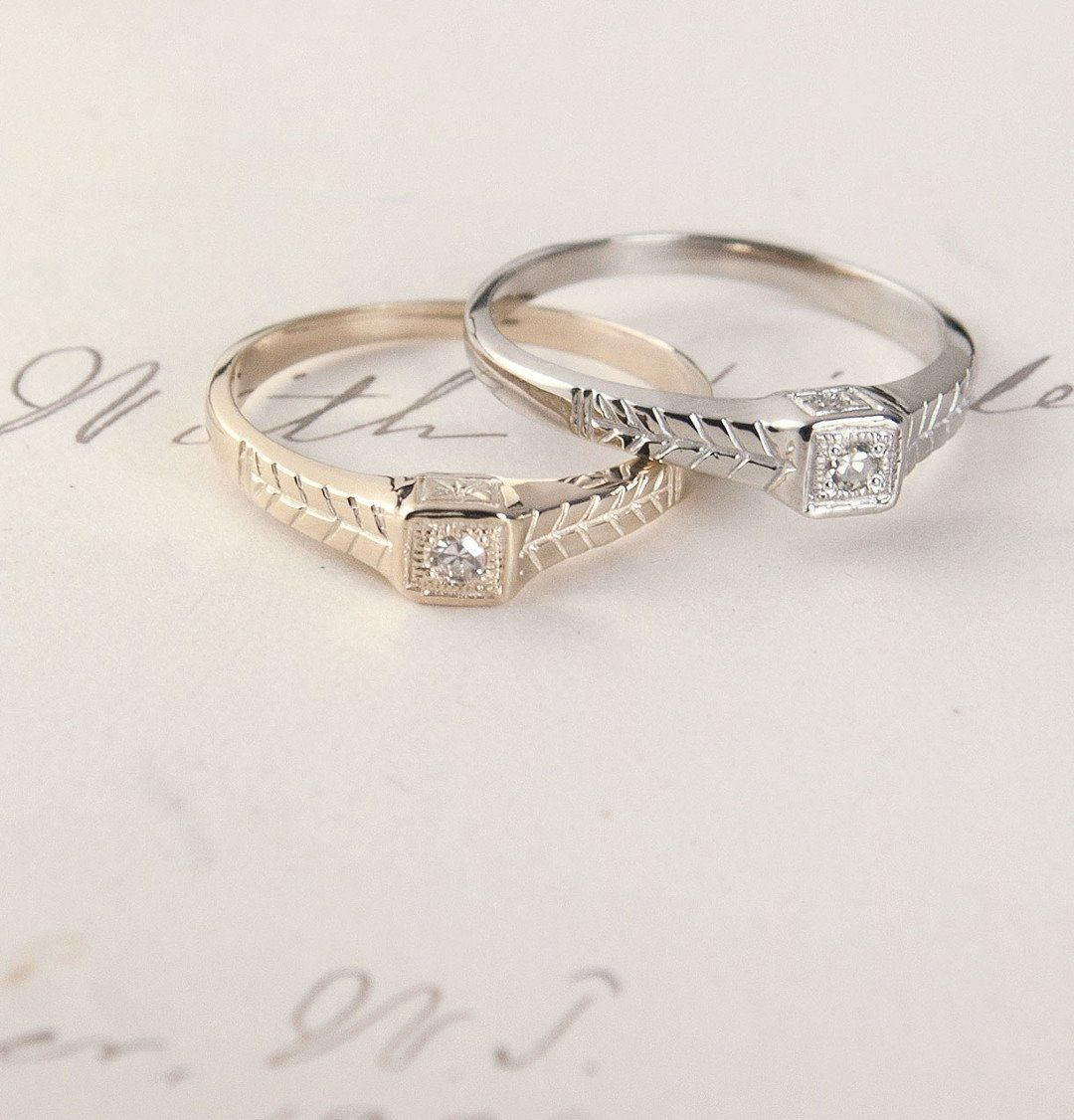 Tiniest Diamond Ring (14k White Gold)