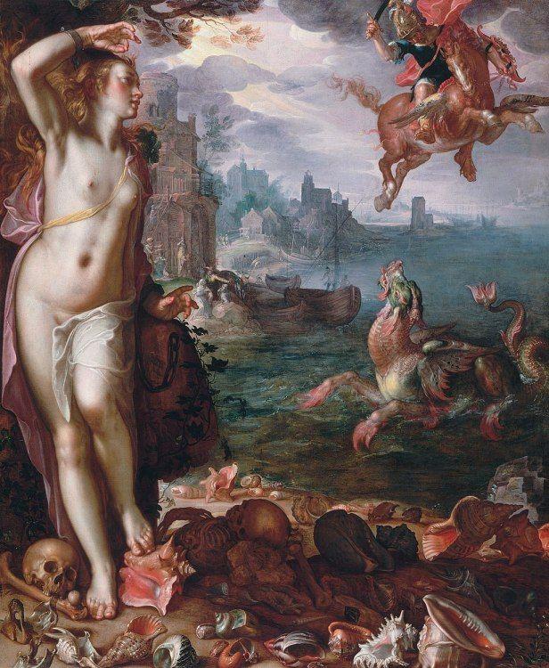 Perseus and Andromeda by Joachim Wtewae, 1611