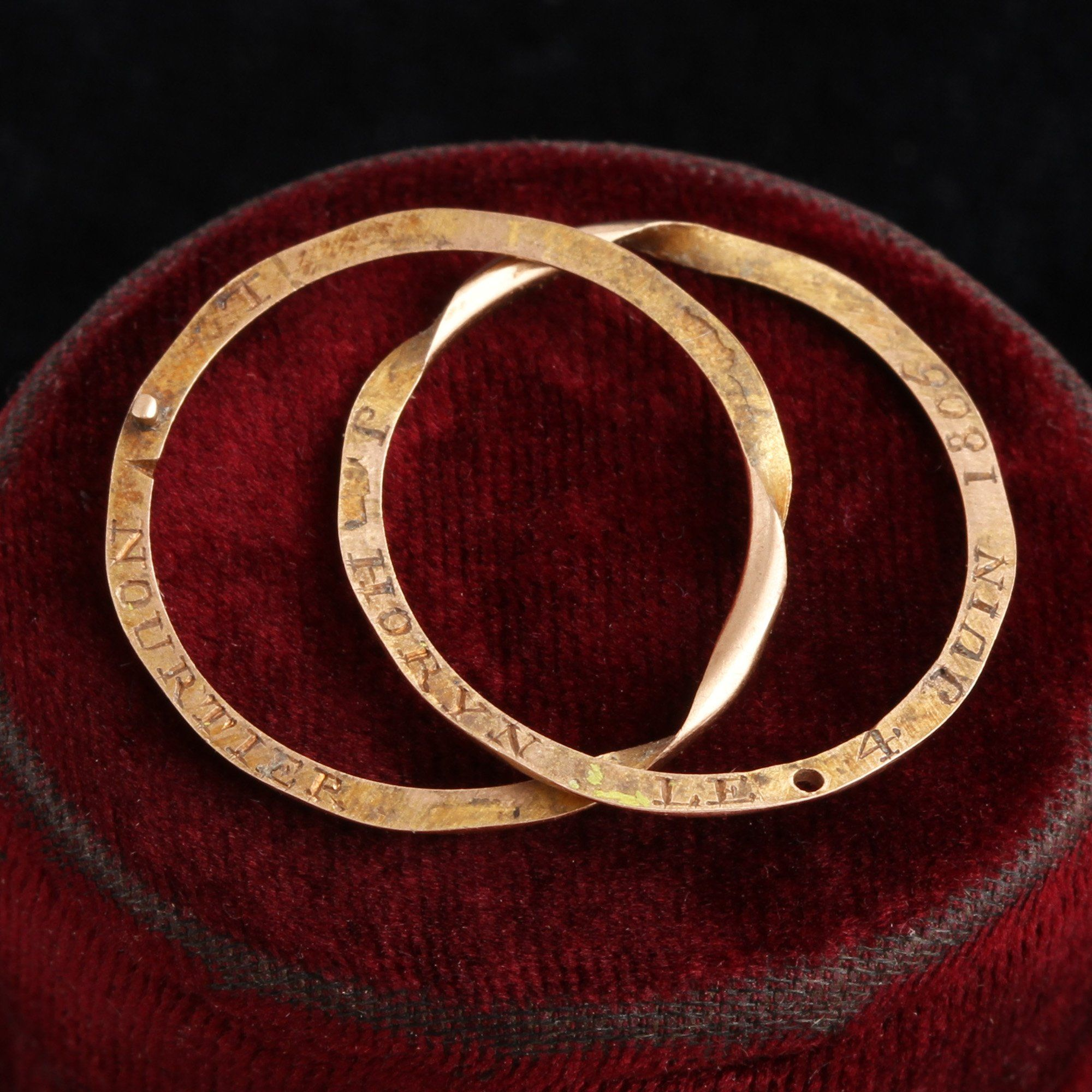 Early 19th Century French Gimmel Wedding Band