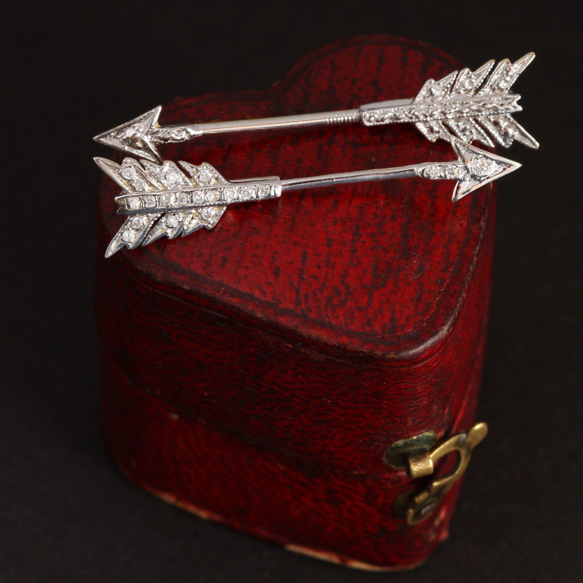 Archery Earring (14k Gold with Diamonds)
