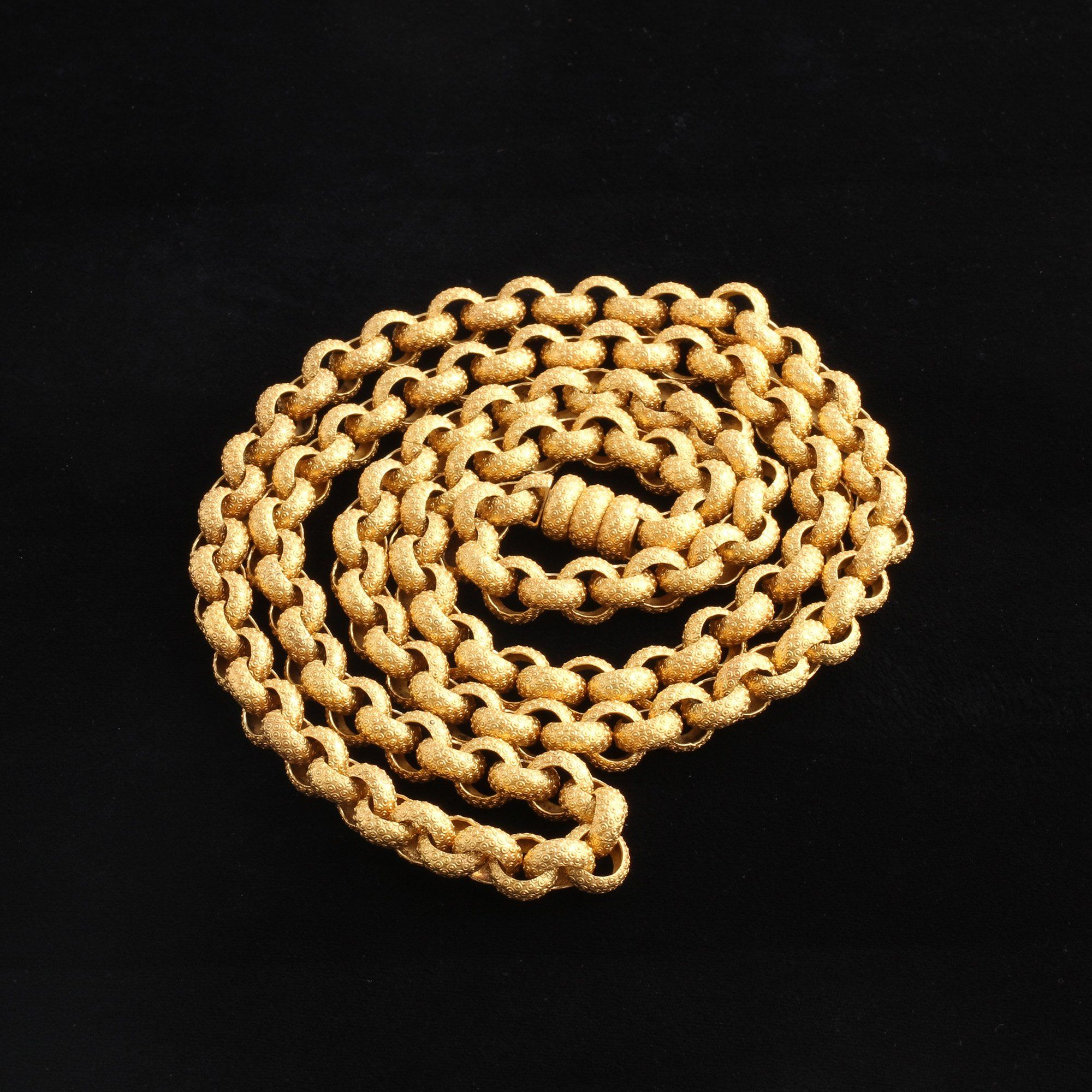 Georgian Large Link Pinchbeck Muff Chain