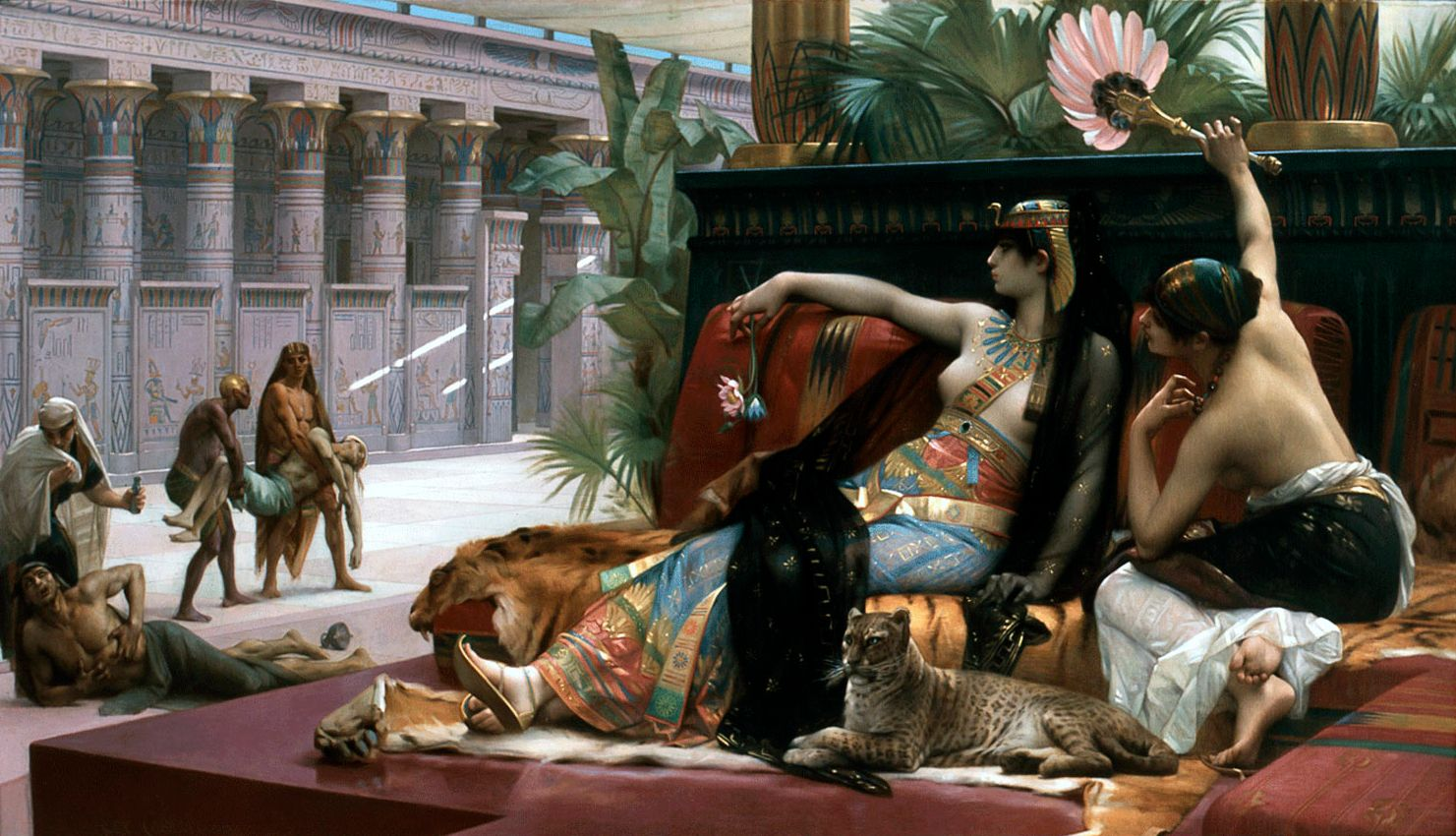 Cleopatra testing poisons on condemned prisoners, Alexandre Cabanel, 1887, Royal Museum of Fine Arts, Antwerp.