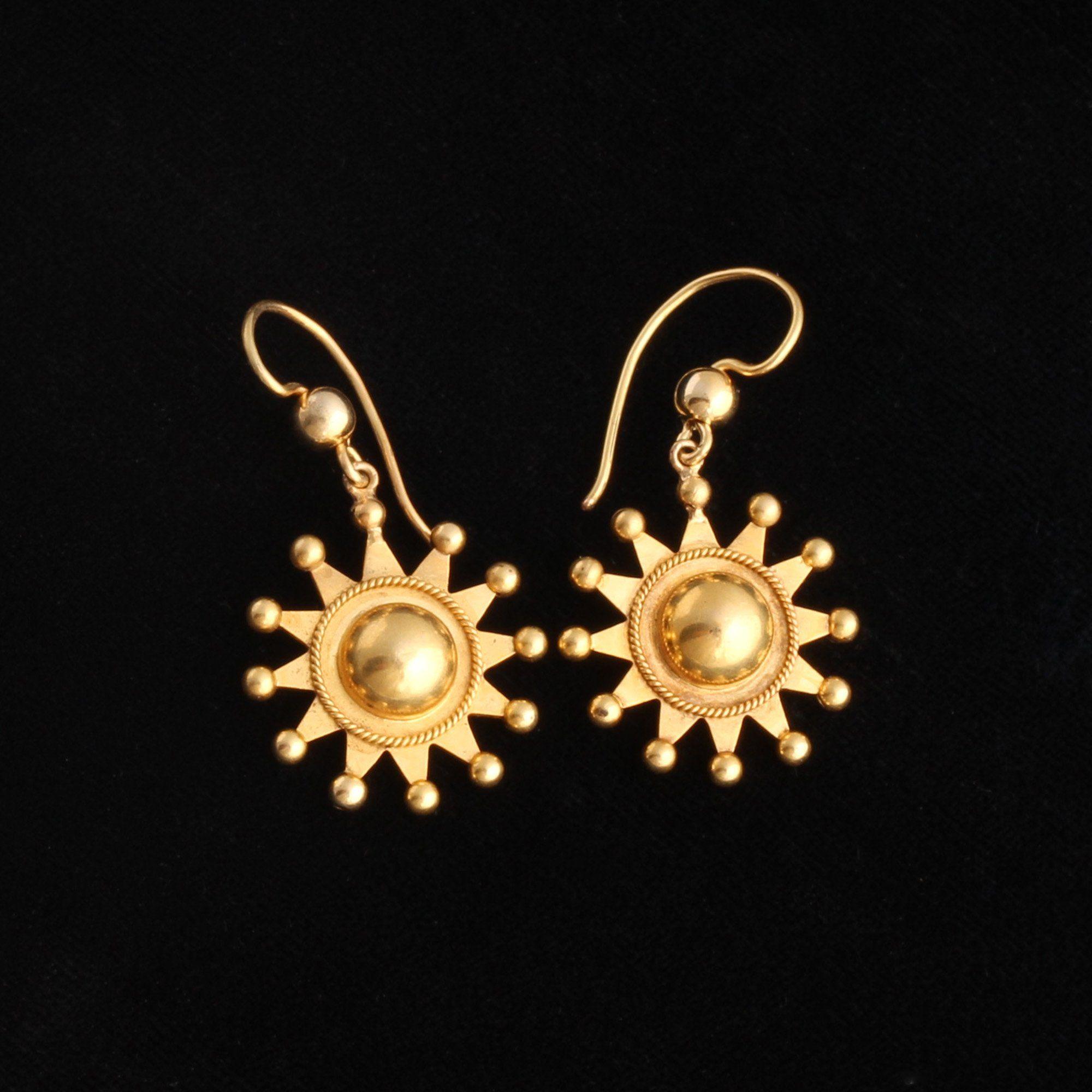 Victorian Sunburst Earrings