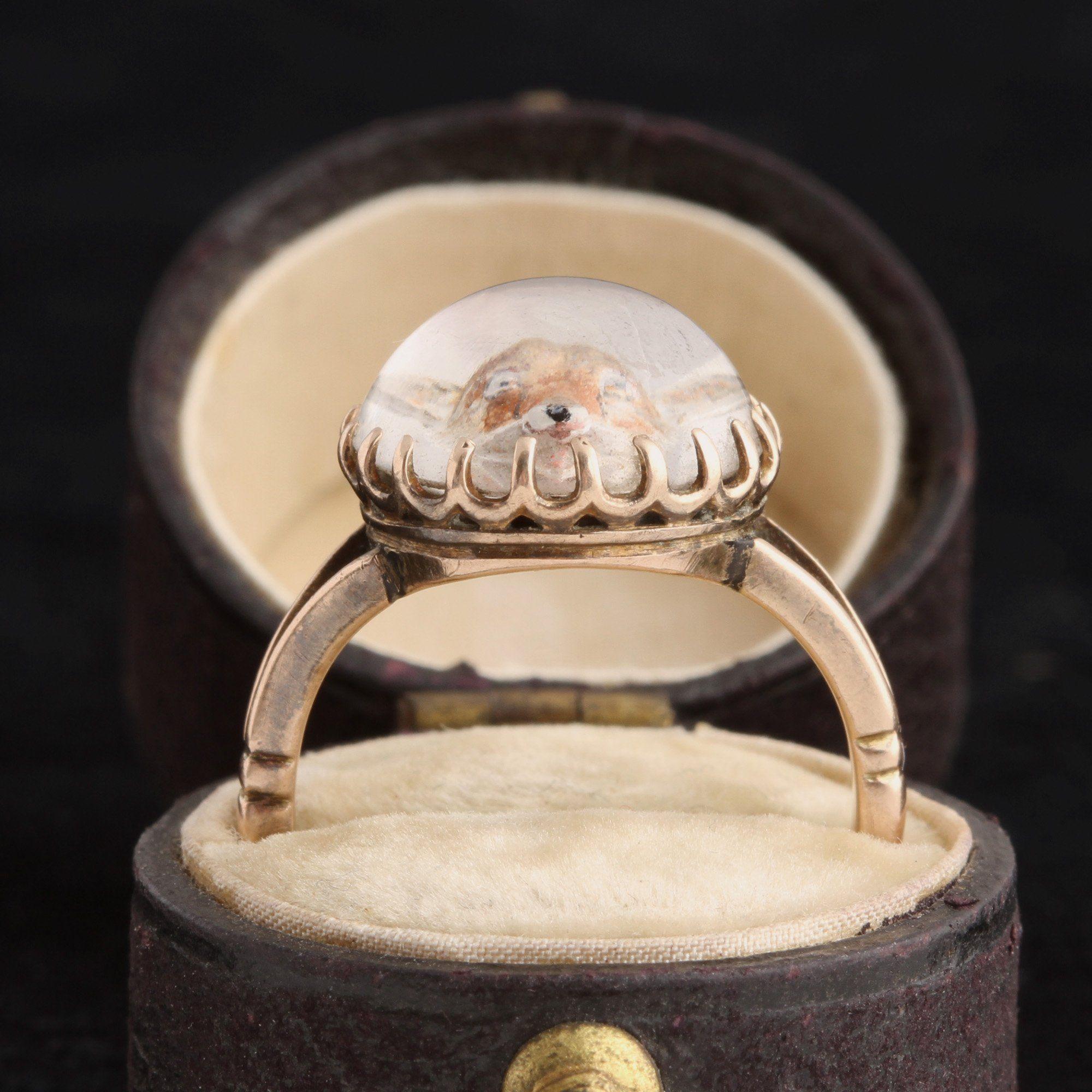 Victorian Essex Crystal Fox Ring