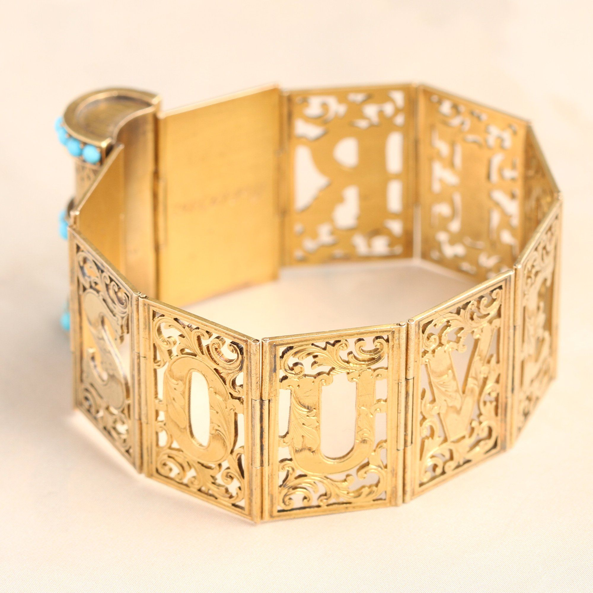 "Victorian  ""Souvenir"" Folding Book Bracelet"