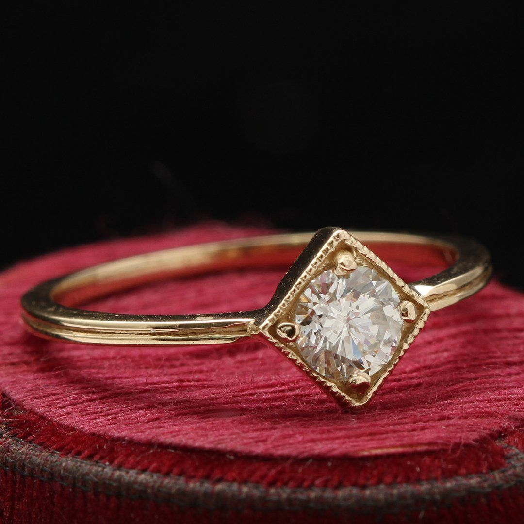 Gilded Age Diamond Solitaire