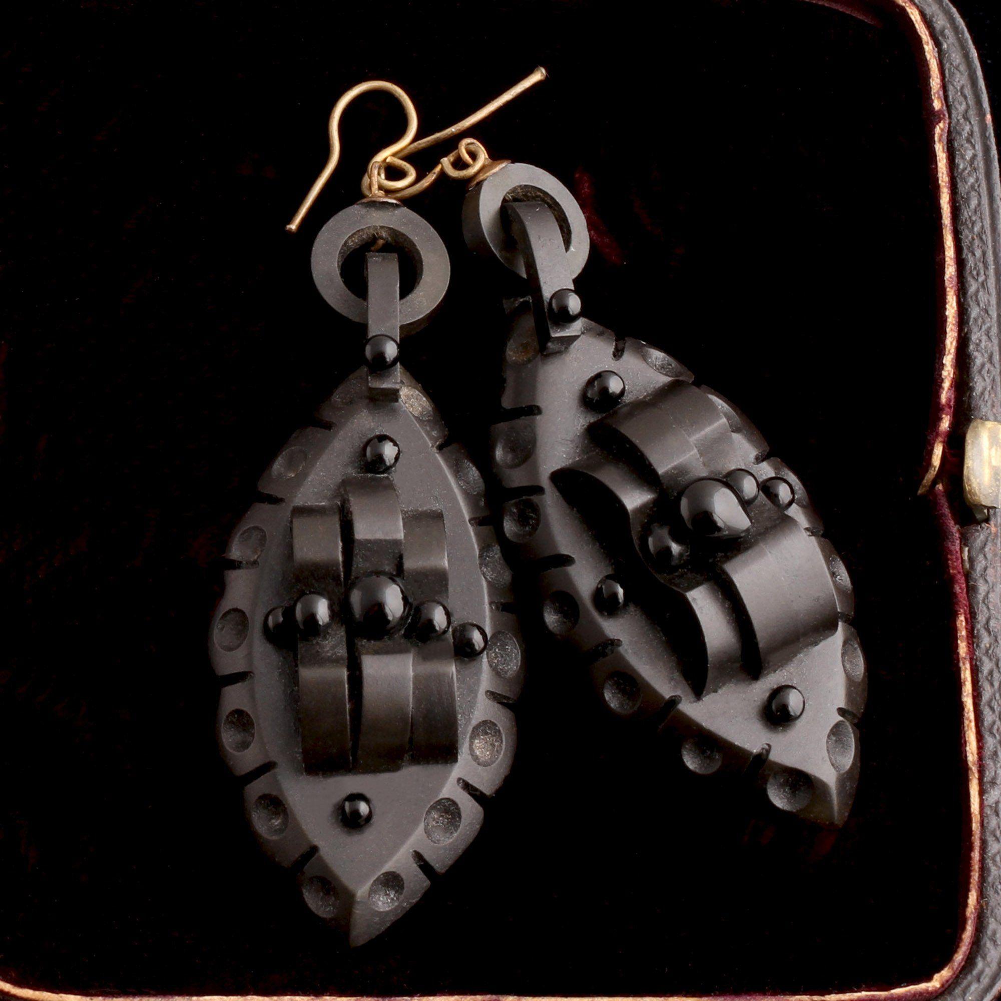 Victorian Gutta Percha Earrings
