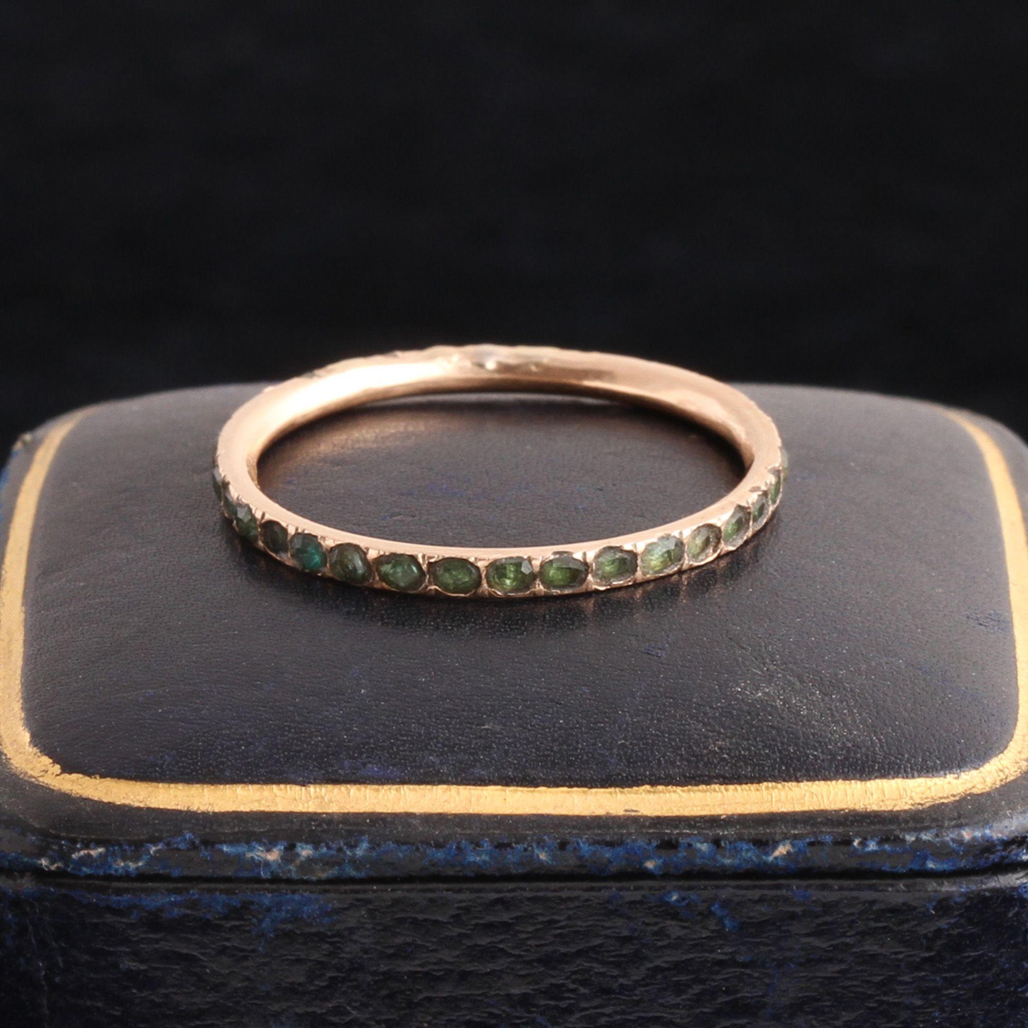 Georgian Emerald Eternity Ring