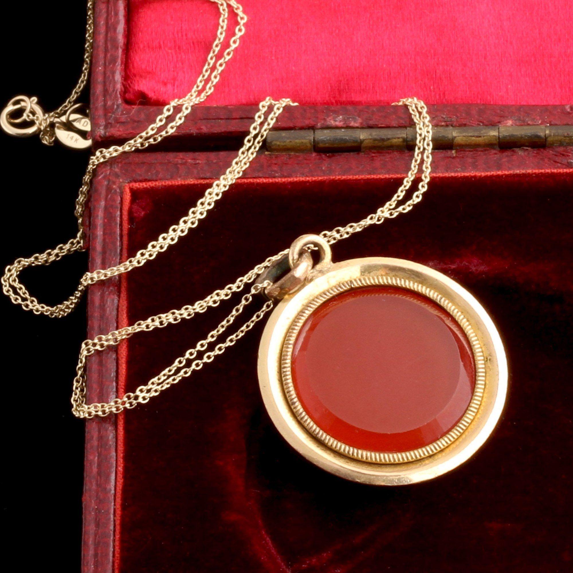 Victorian Red Glass Locket