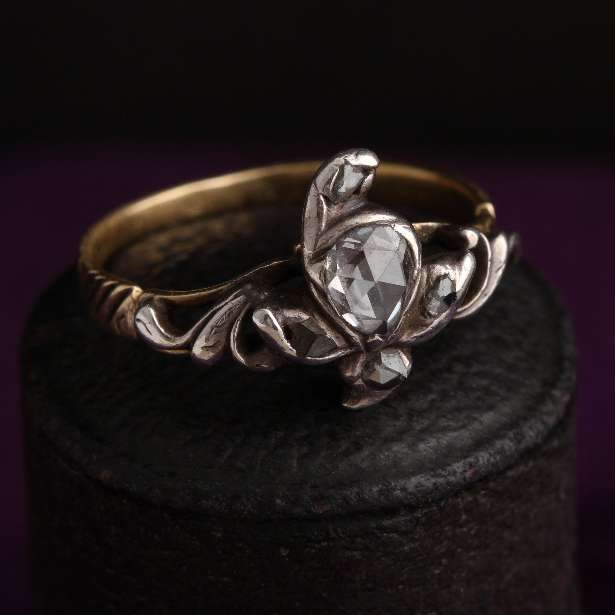 18th Century French Diamond Iris Giardinetti Ring