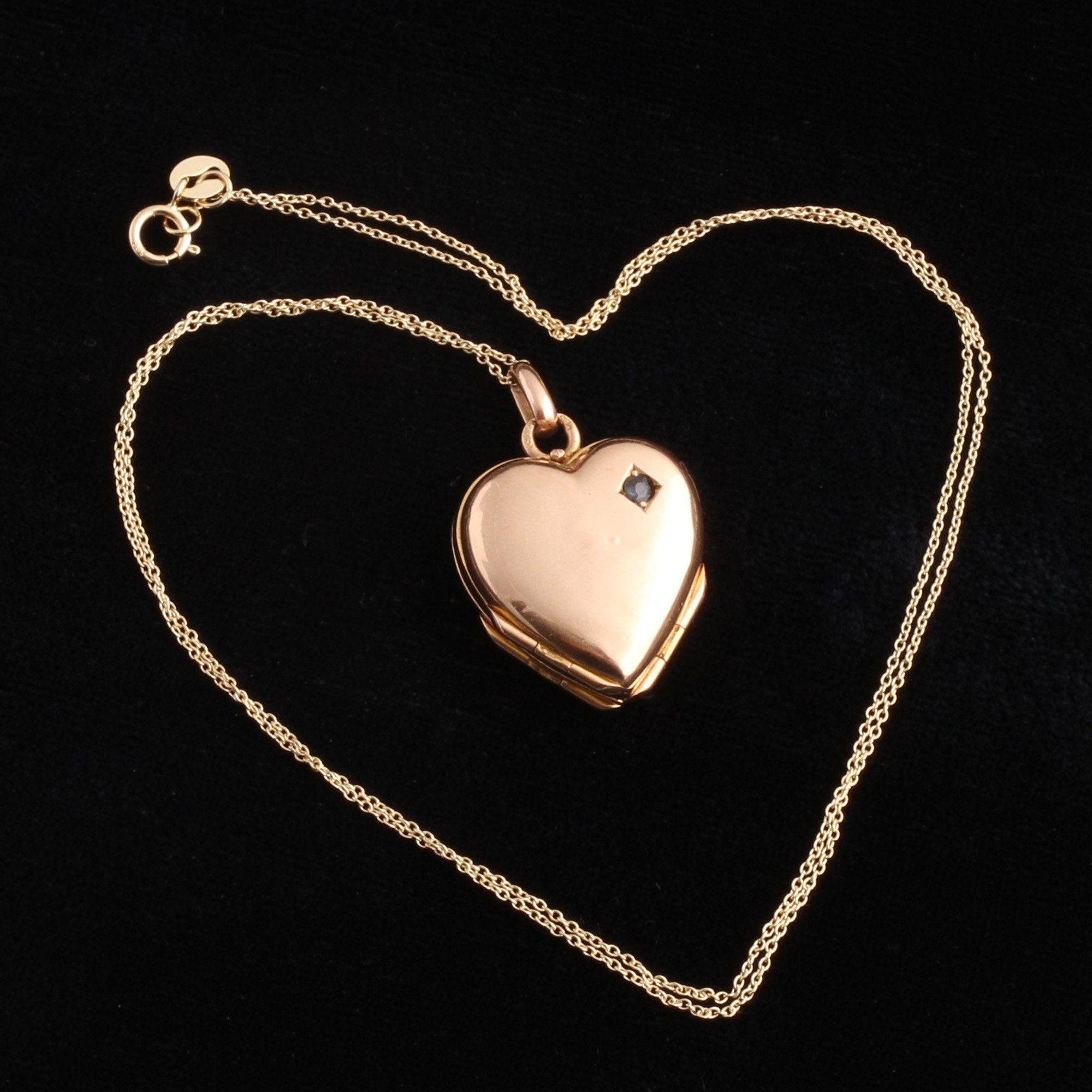 Victorian Four Panel Heart Locket