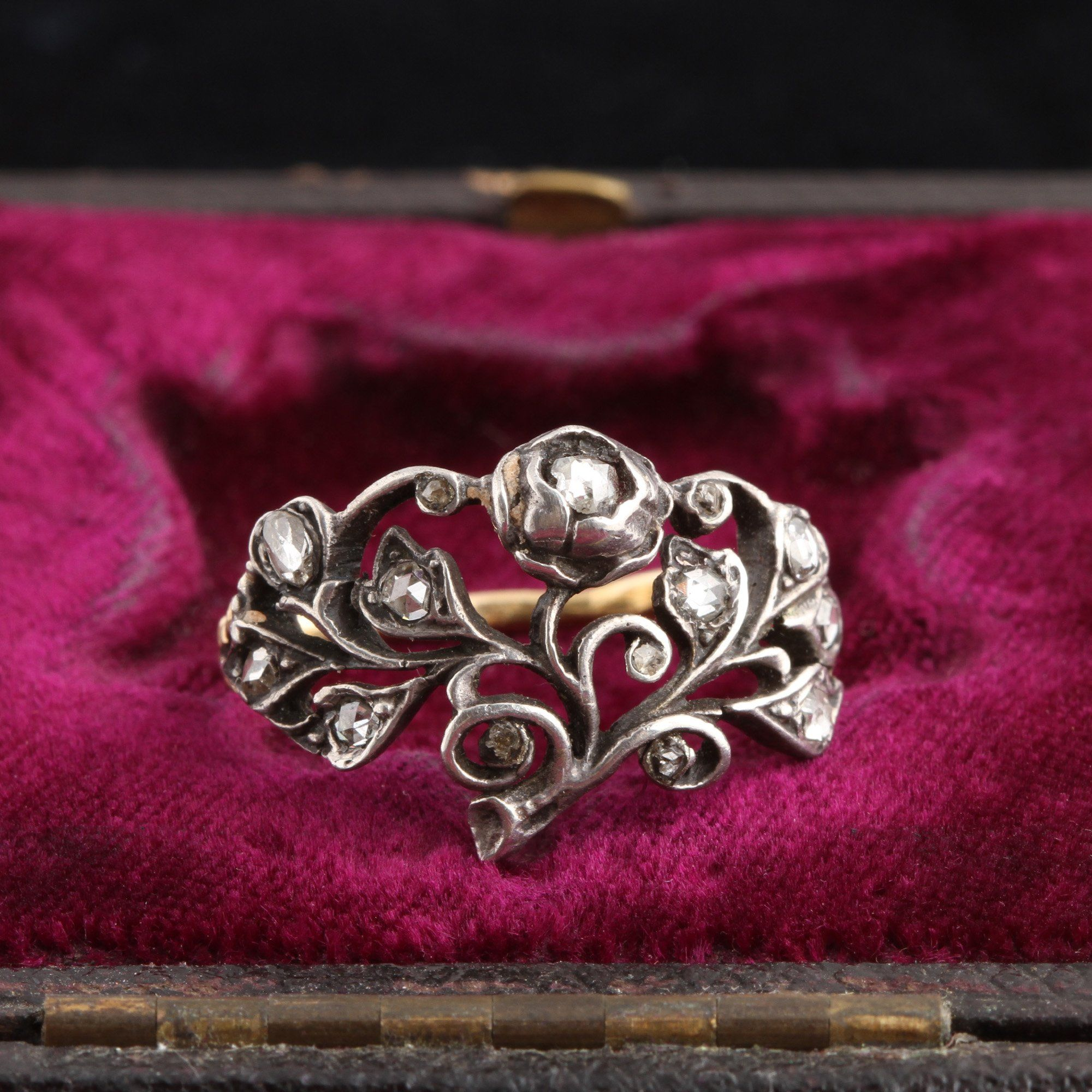 18th Century Rose Cut Diamond Giardinetti Ring