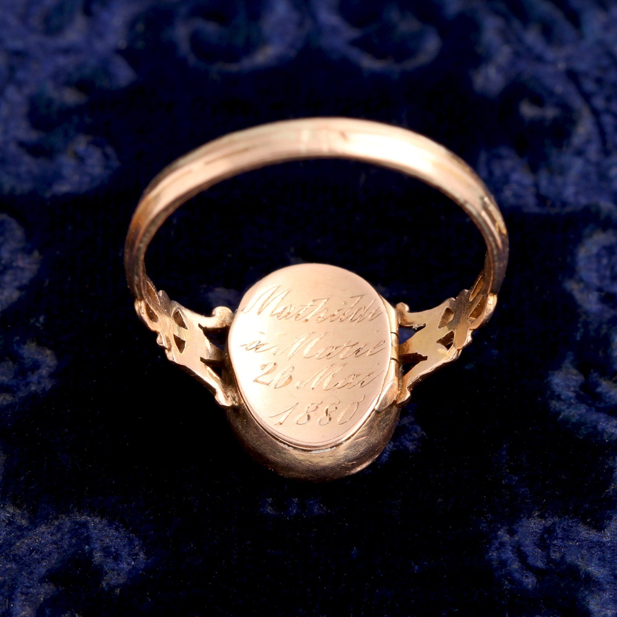 Late 19th Century French Locket Ring