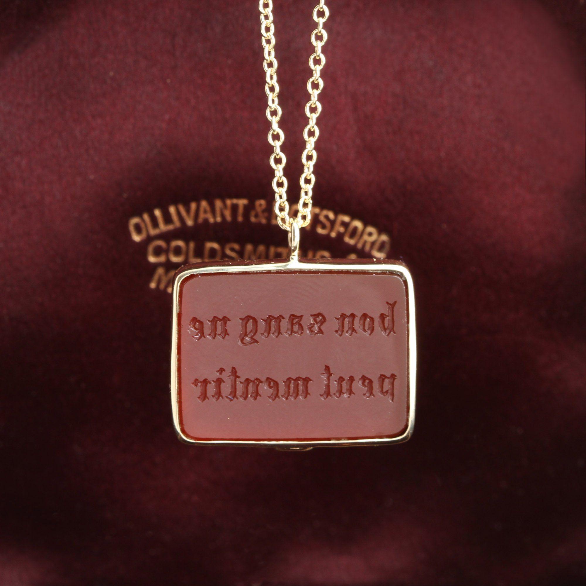 "Early 19th Century ""Bon Sang Ne Peut Mentir"" Seal Necklace"