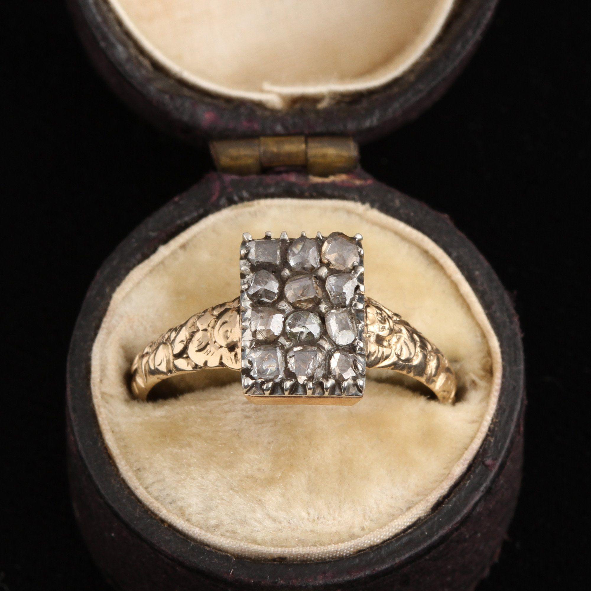 Early Victorian Rose Cut Diamond Pavé Ring