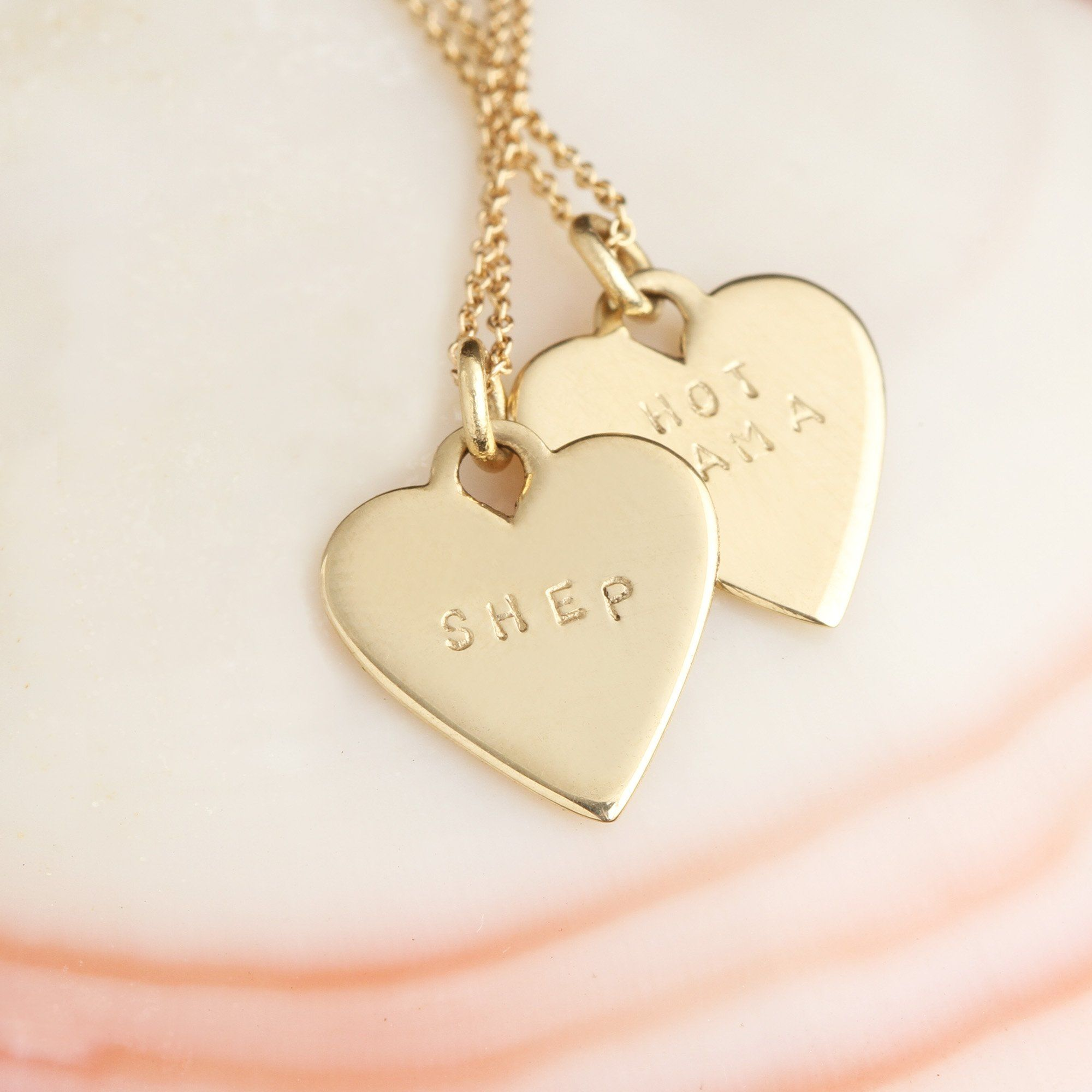 Customizable Baby Heart Necklace
