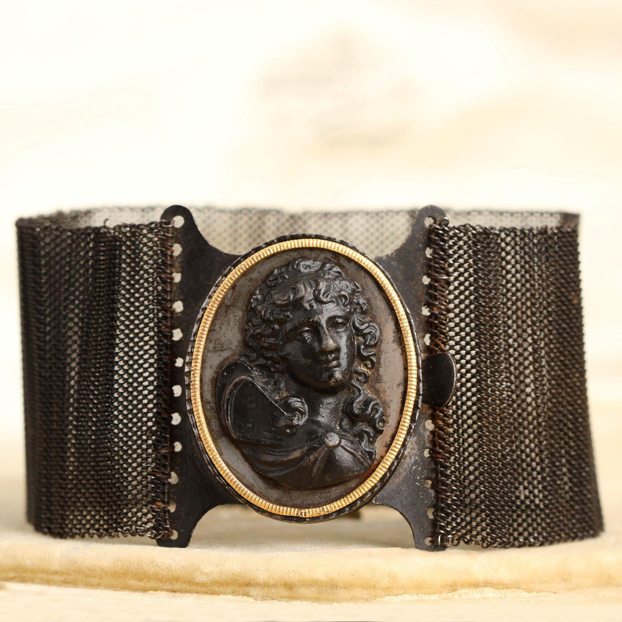 Berlin Iron Bracelet with Eros Centocelle Cameo