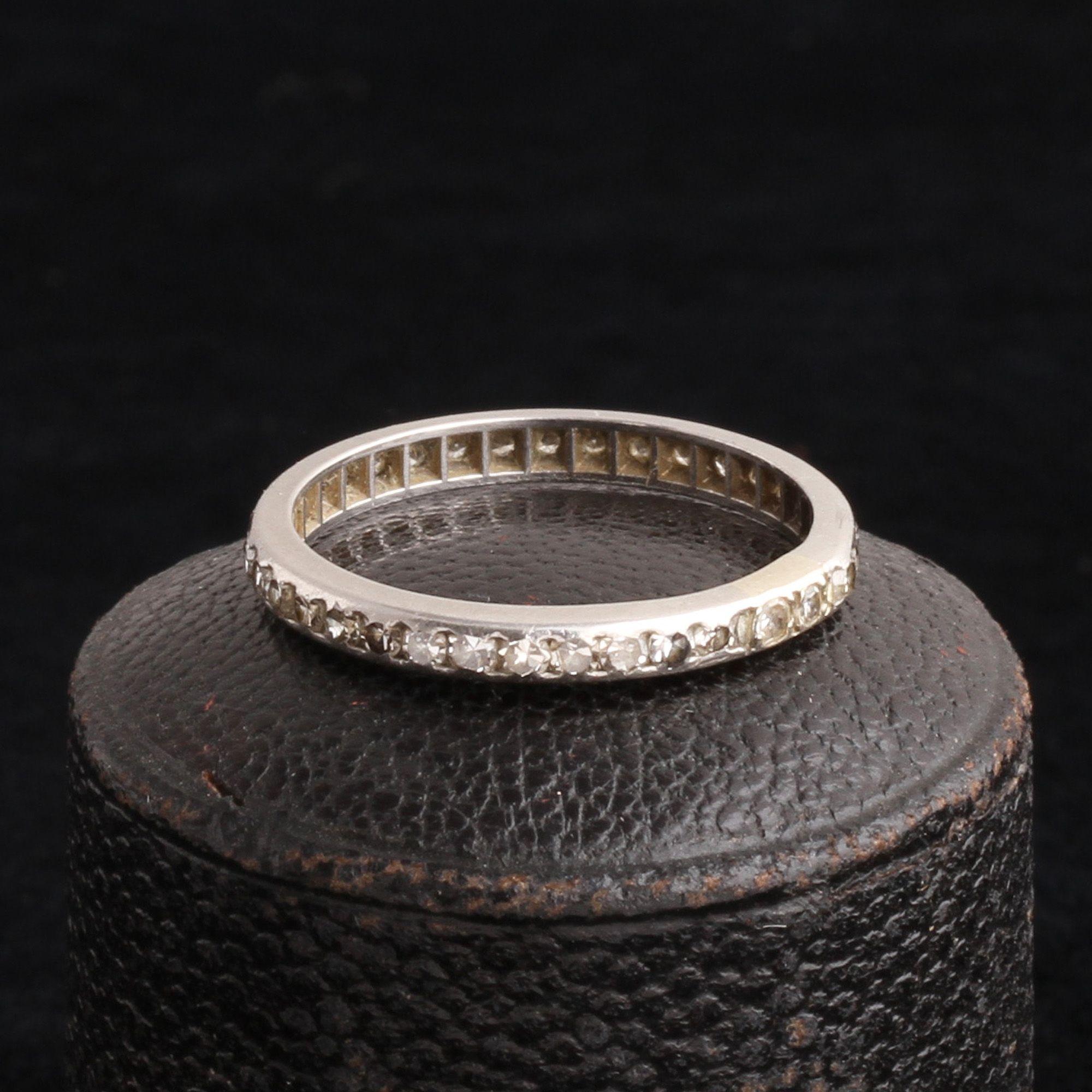 Vintage Platinum Eternity Ring Size 6.25
