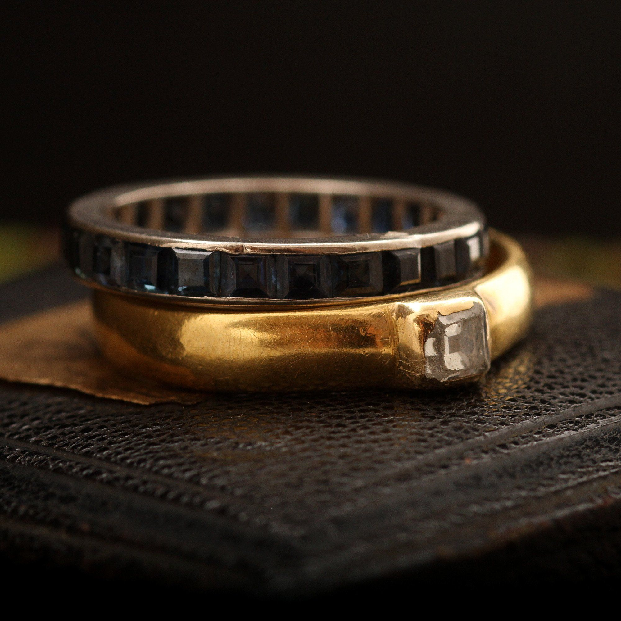 """""""Erunt Duom Carne Una"""" Early 17th Century Poesy Ring with Table Cut Diamond"""