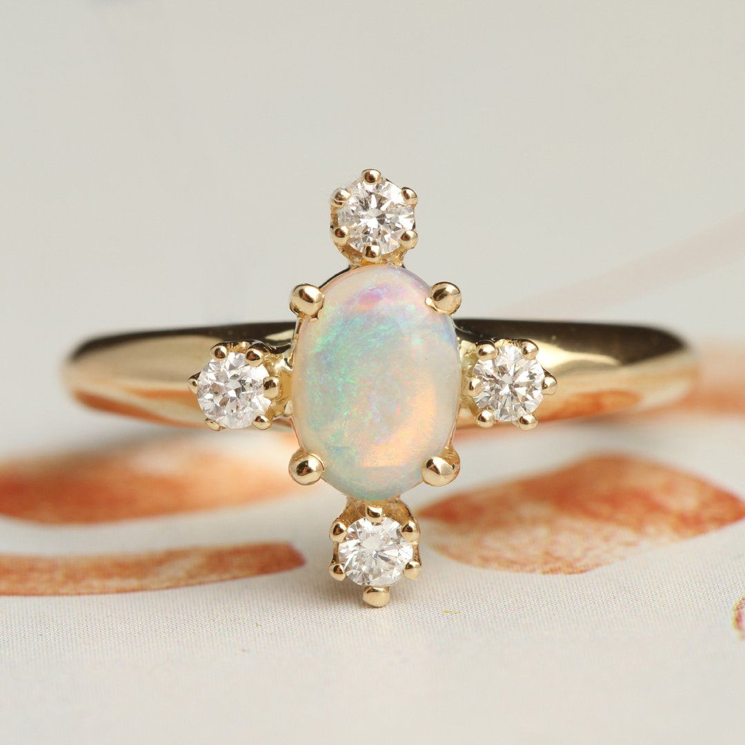Directional Ring (Opal)