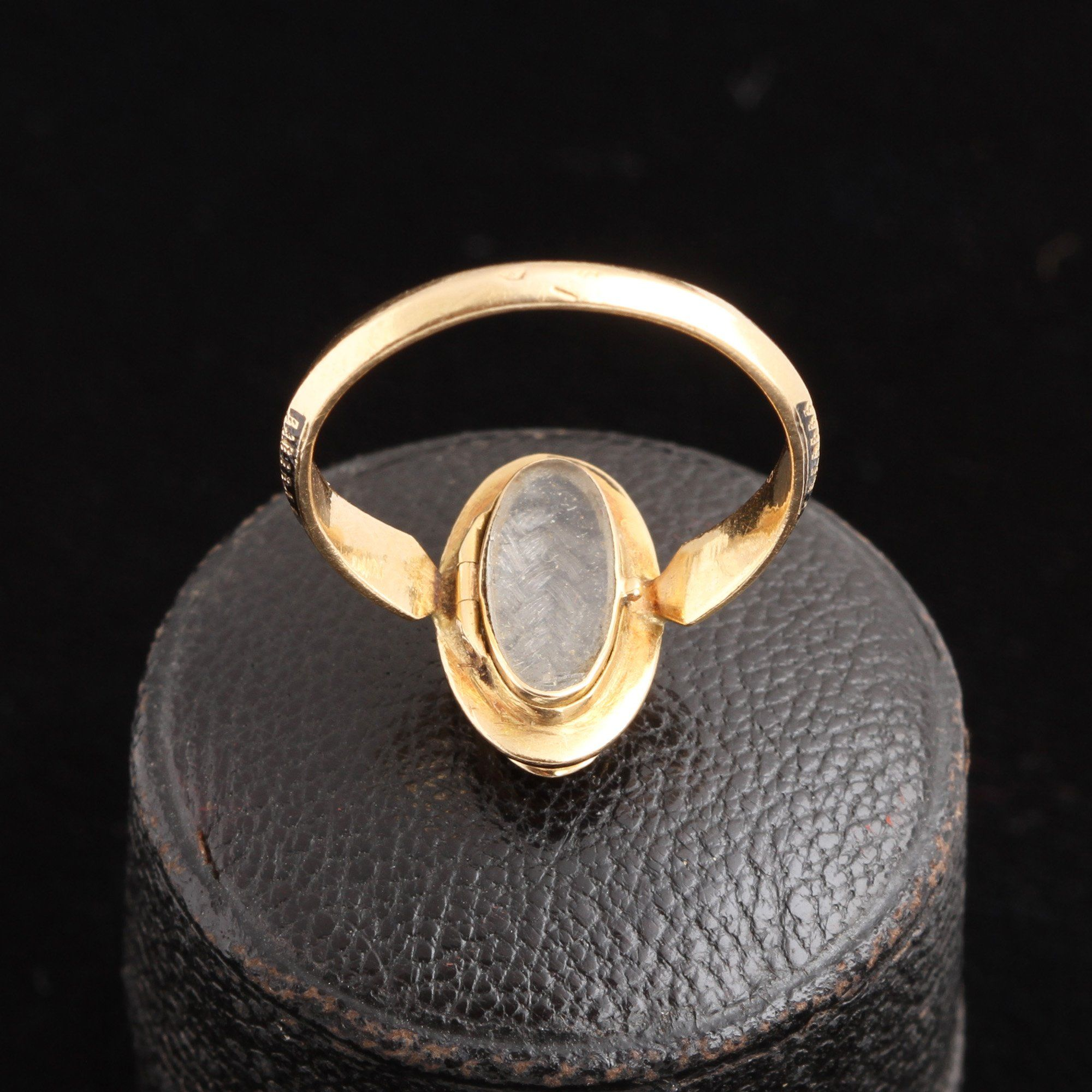 """Late 19th Century French """"S"""" Locket Ring"""