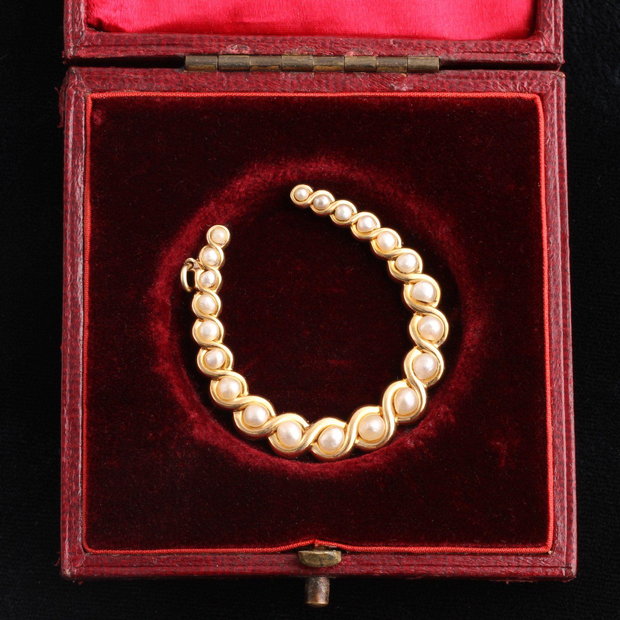 Victorian Pearl Horseshoe Pendant
