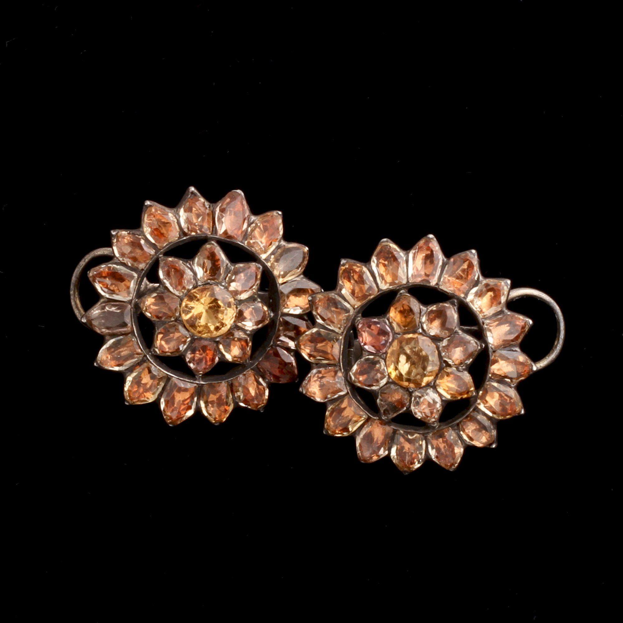 18th Century Portuguese Topaz Earrings
