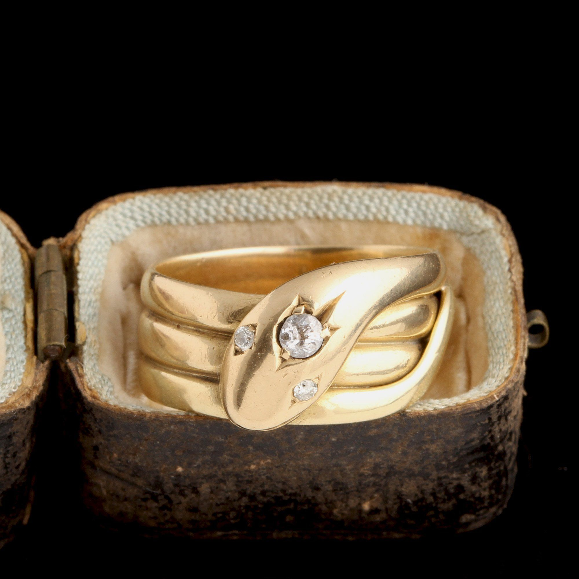 Victorian Diamond Serpent Ring