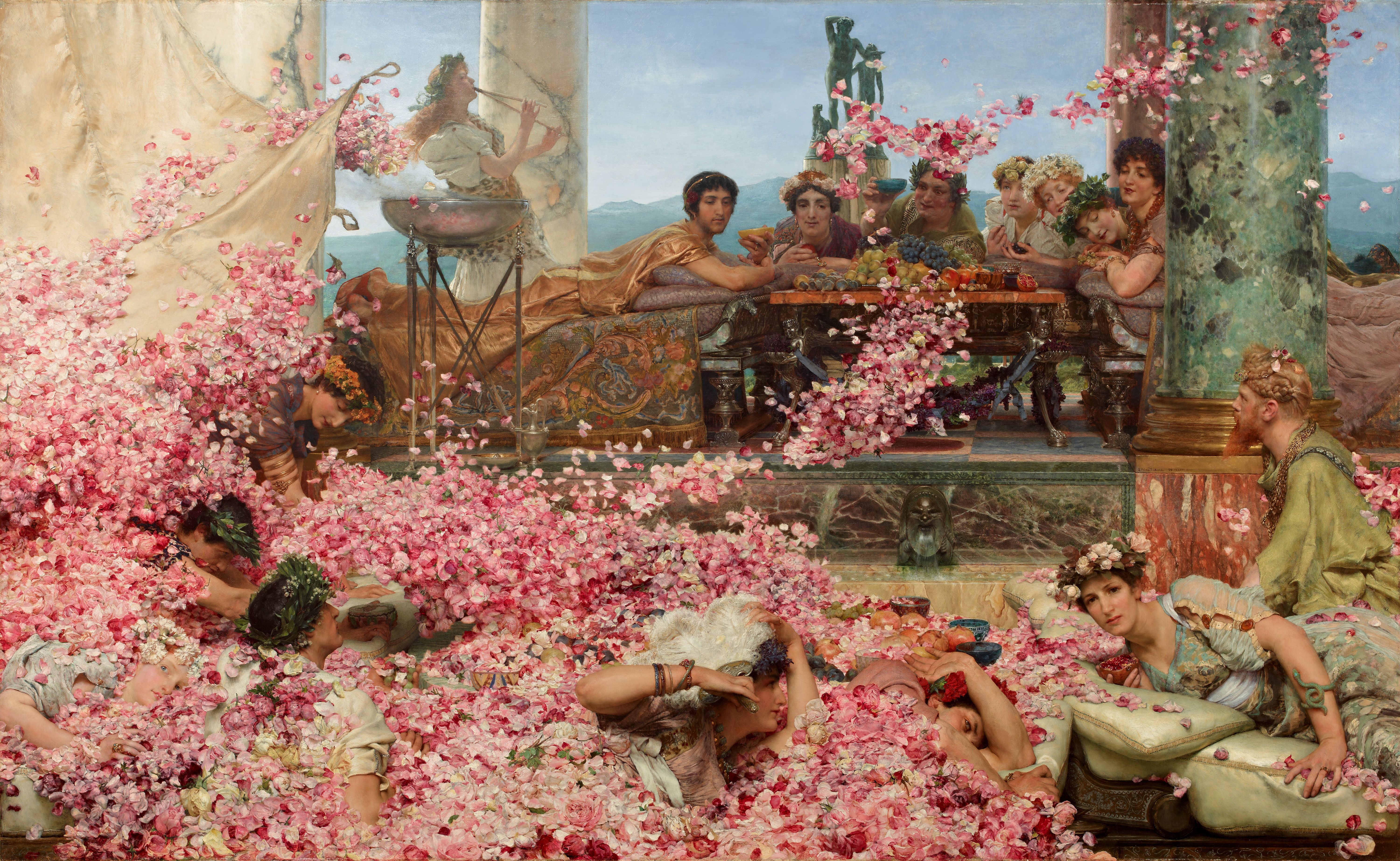"""An evocative depiction of the decadence of scent in the Roman era. """"Rose of Heliobalus"""" by Lawrence Alma-Tadema,"""