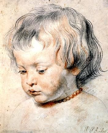 Illustration of Nicolaas Rubens Wearing a Coral Necklace by Peter Paul Rubens, c. 1619
