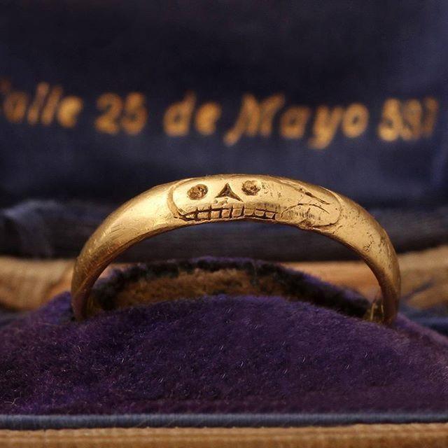 Georgian Death's Head Mourning Ring