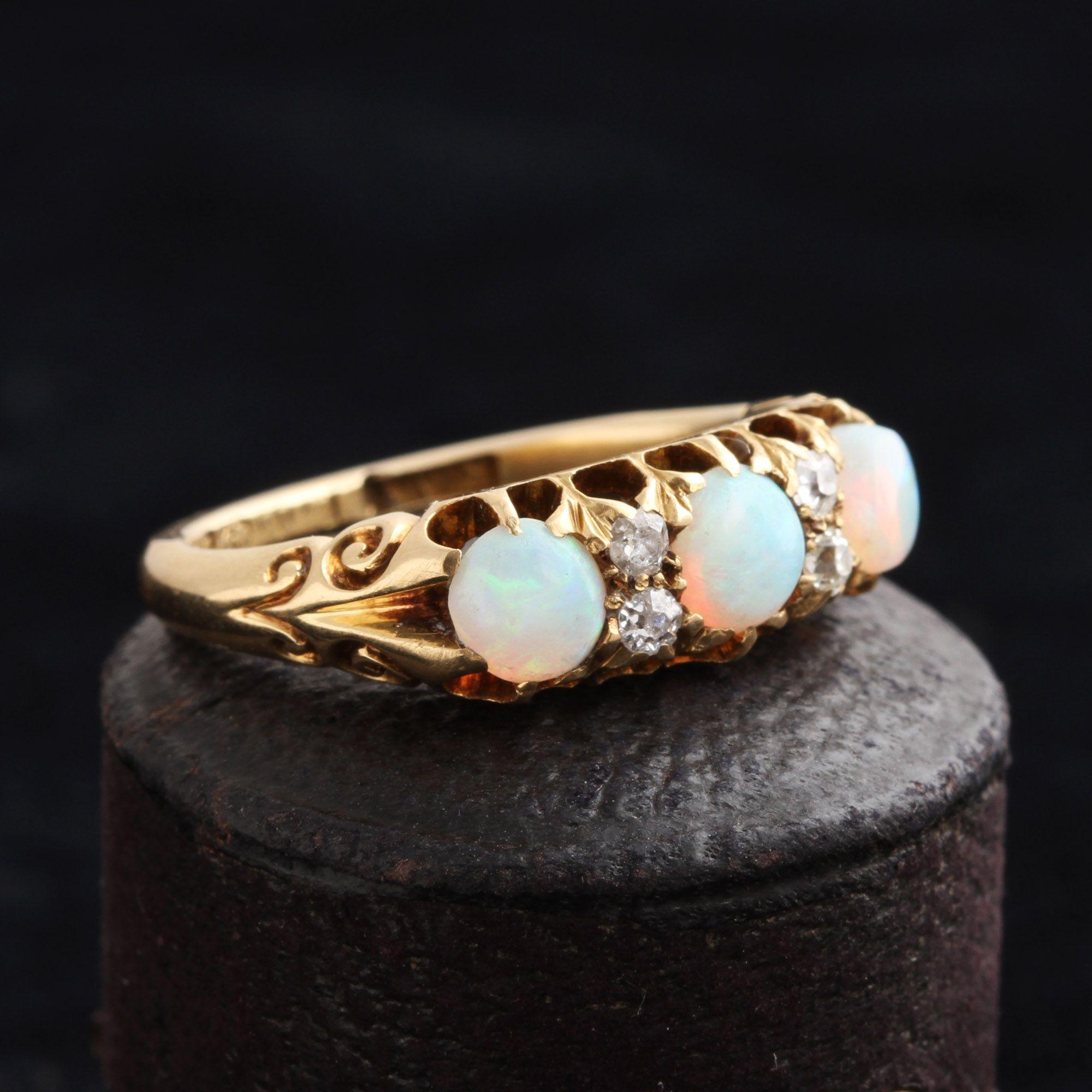 Victorian Opal & Diamond Ring