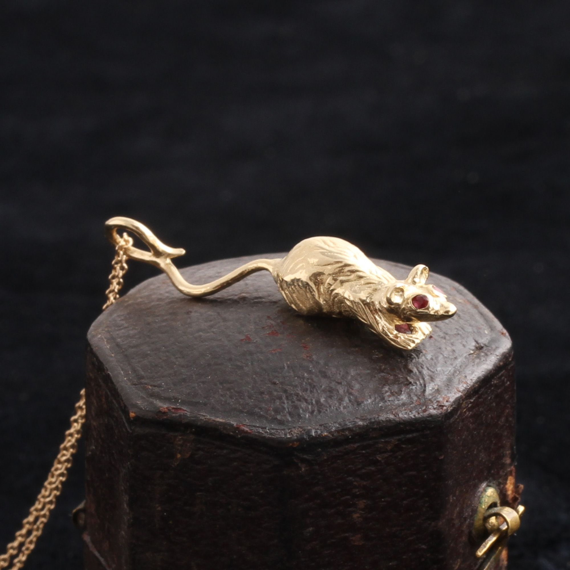 Ruby-Eyed Rat Necklace