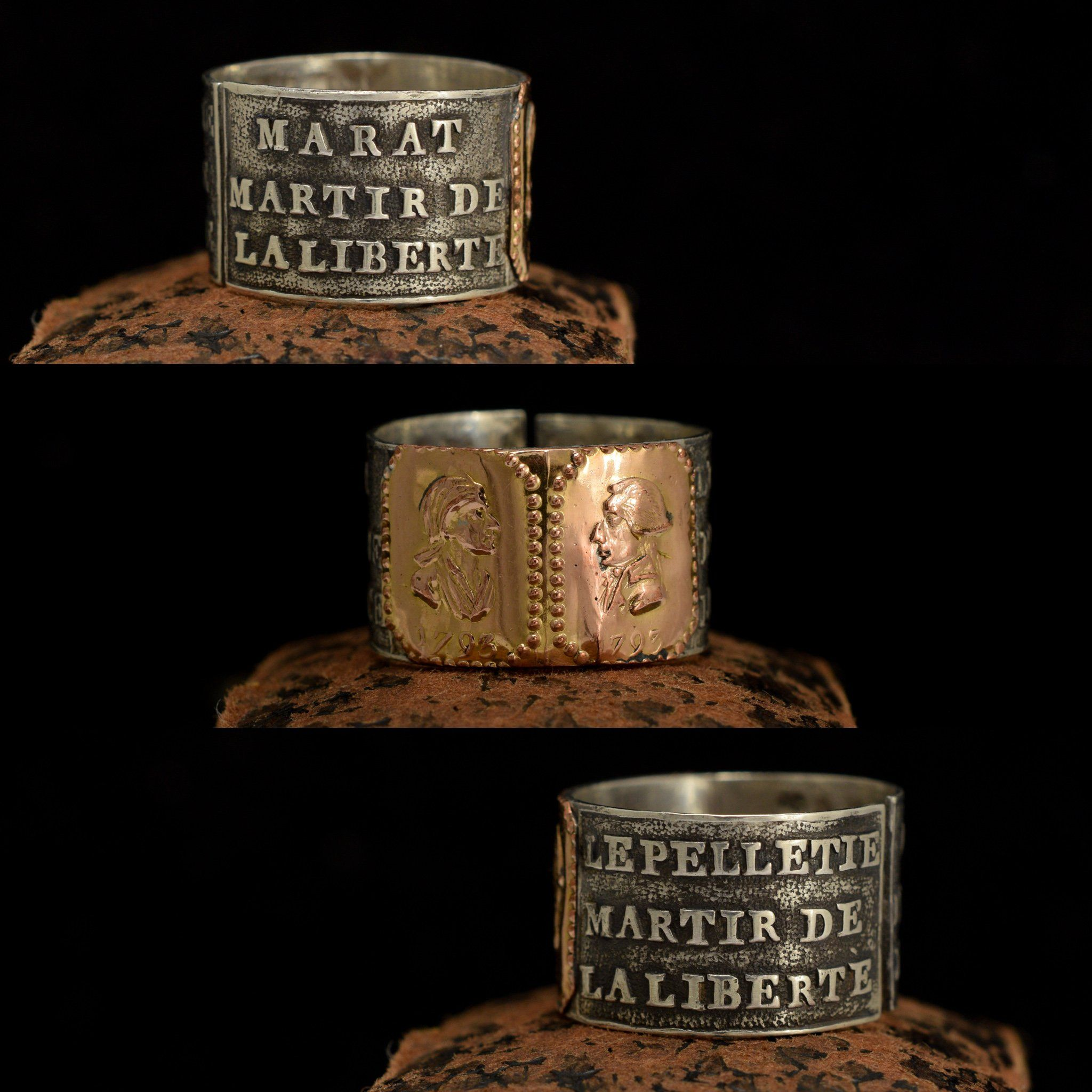1793 French Revolution Mourning Ring for Marat and Le Peletier