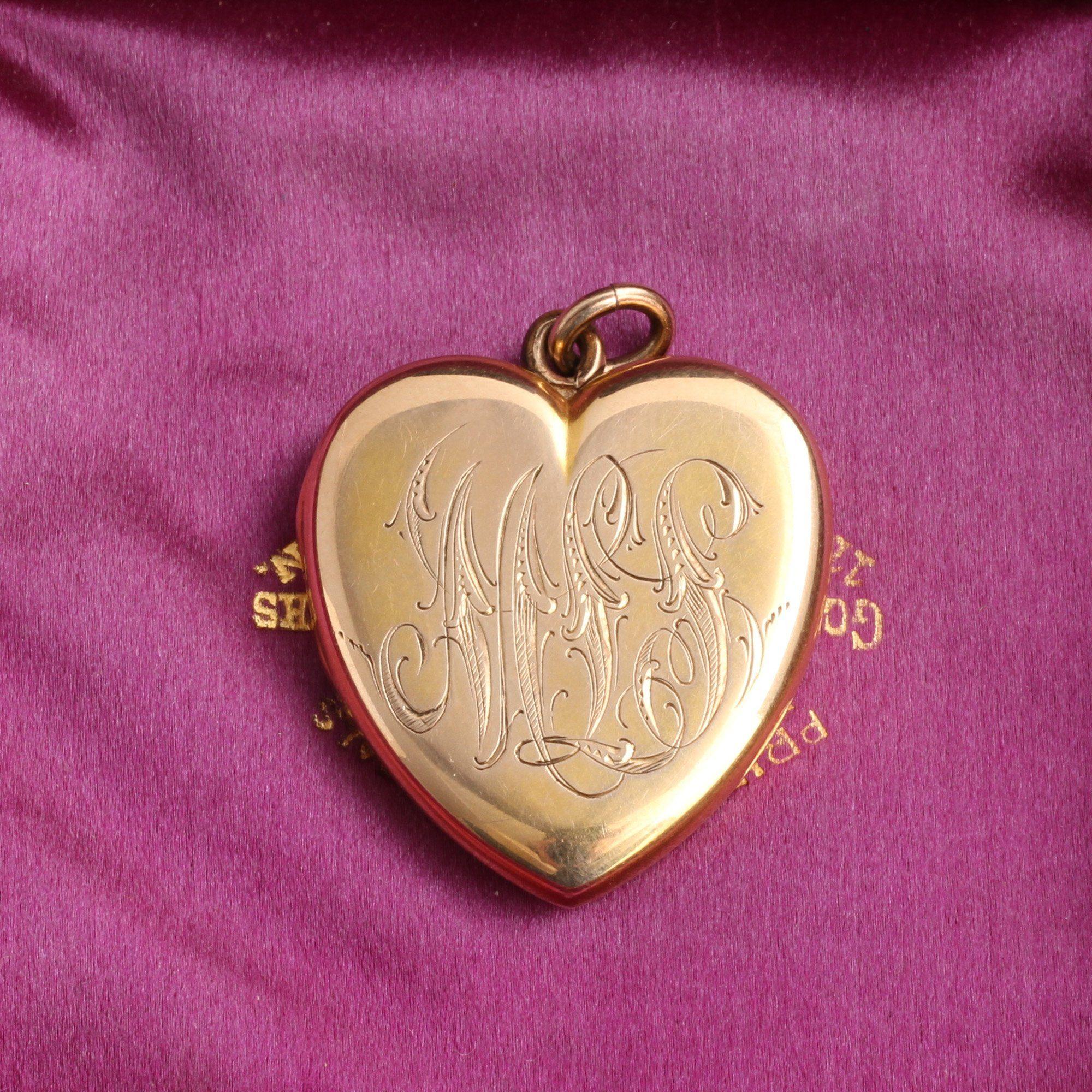 """Victorian """"MLS"""" Heart Locket"""