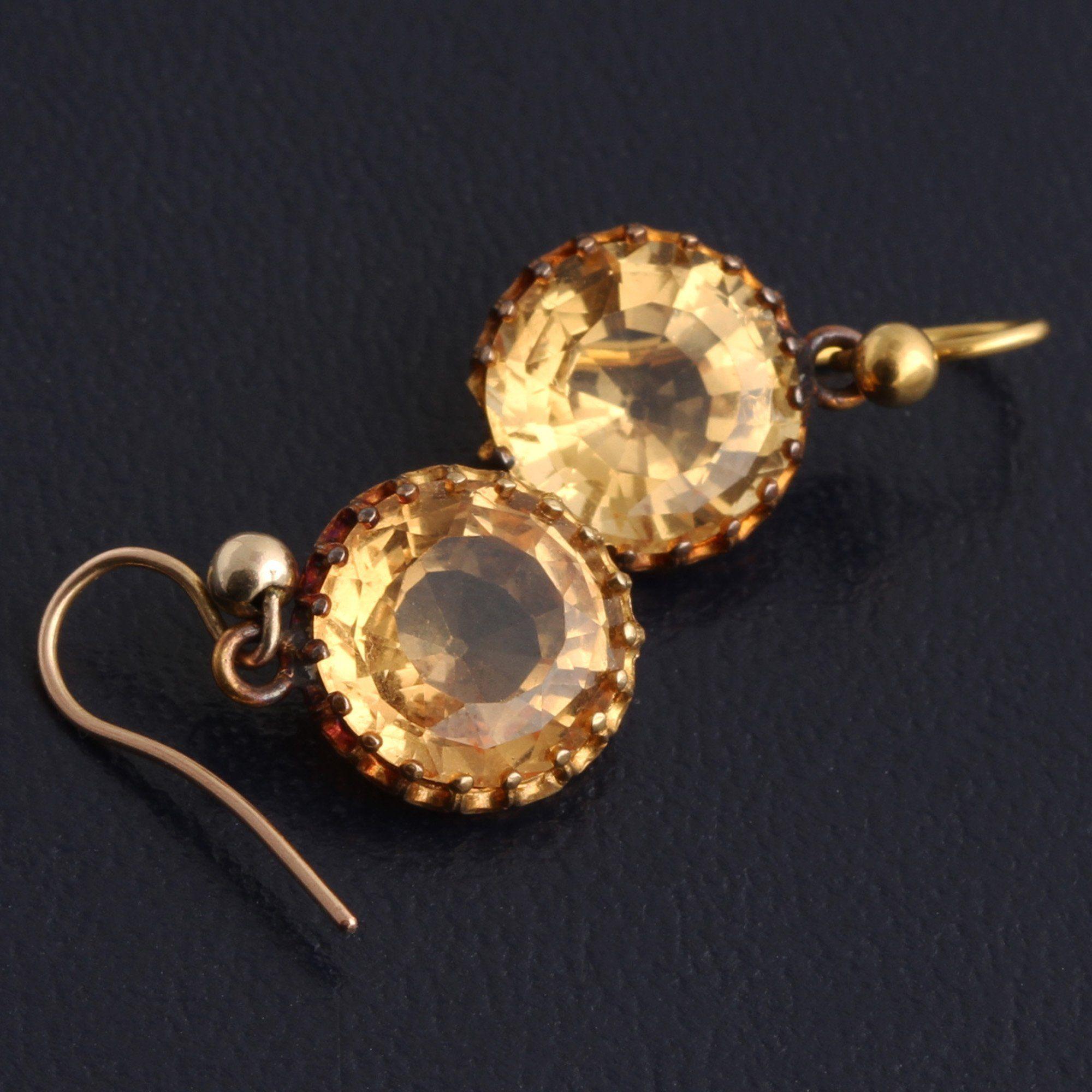 Victorian Topaz Earrings