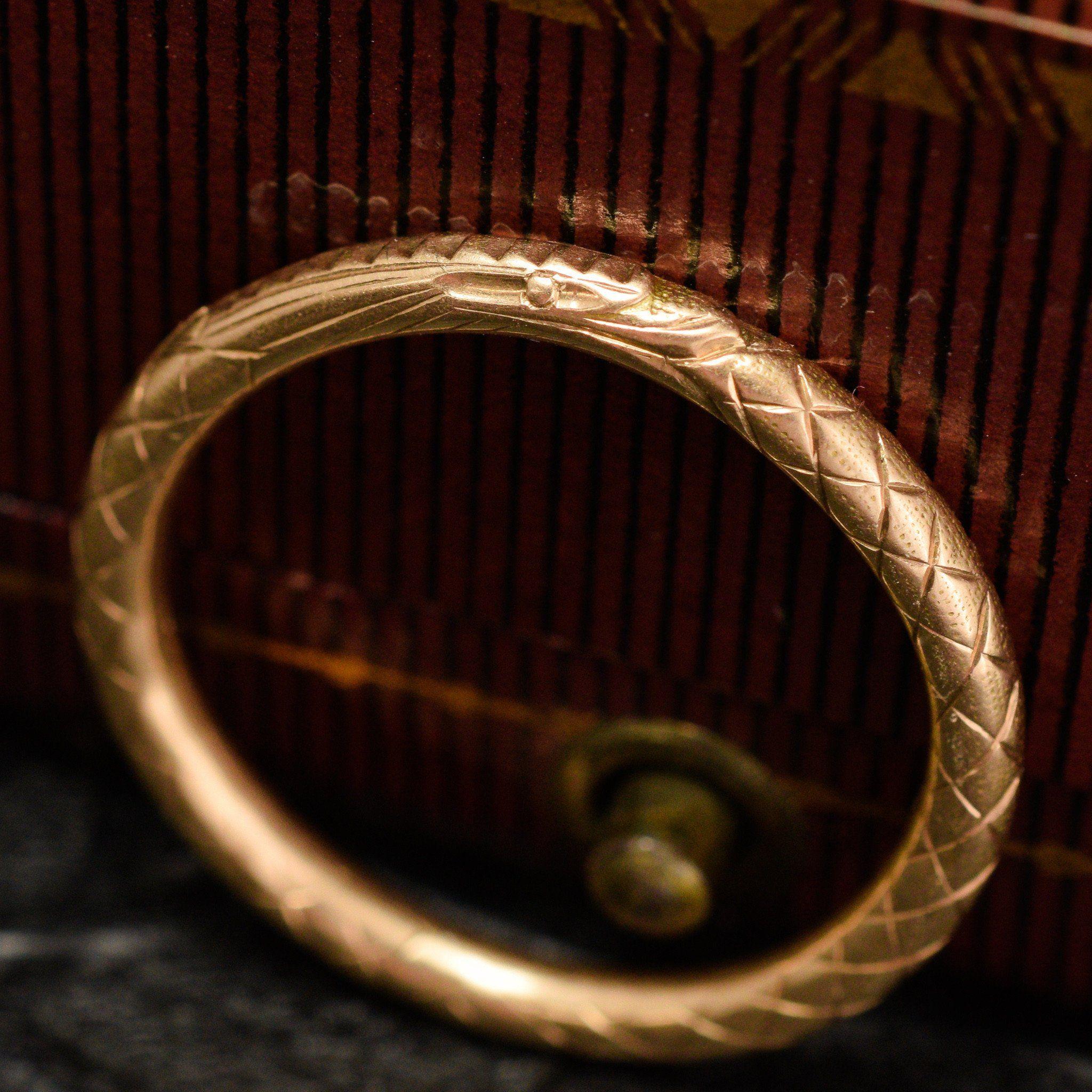 Victorian Ouroboros Split Ring