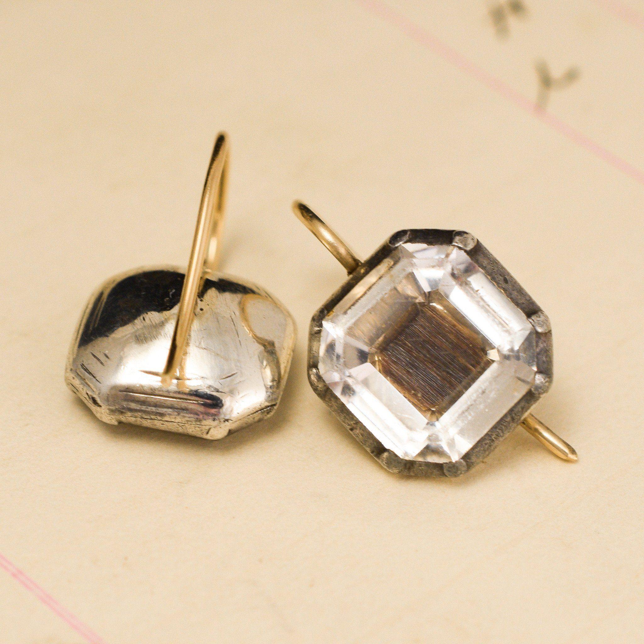 Detail of Stuart Crystal Earrings