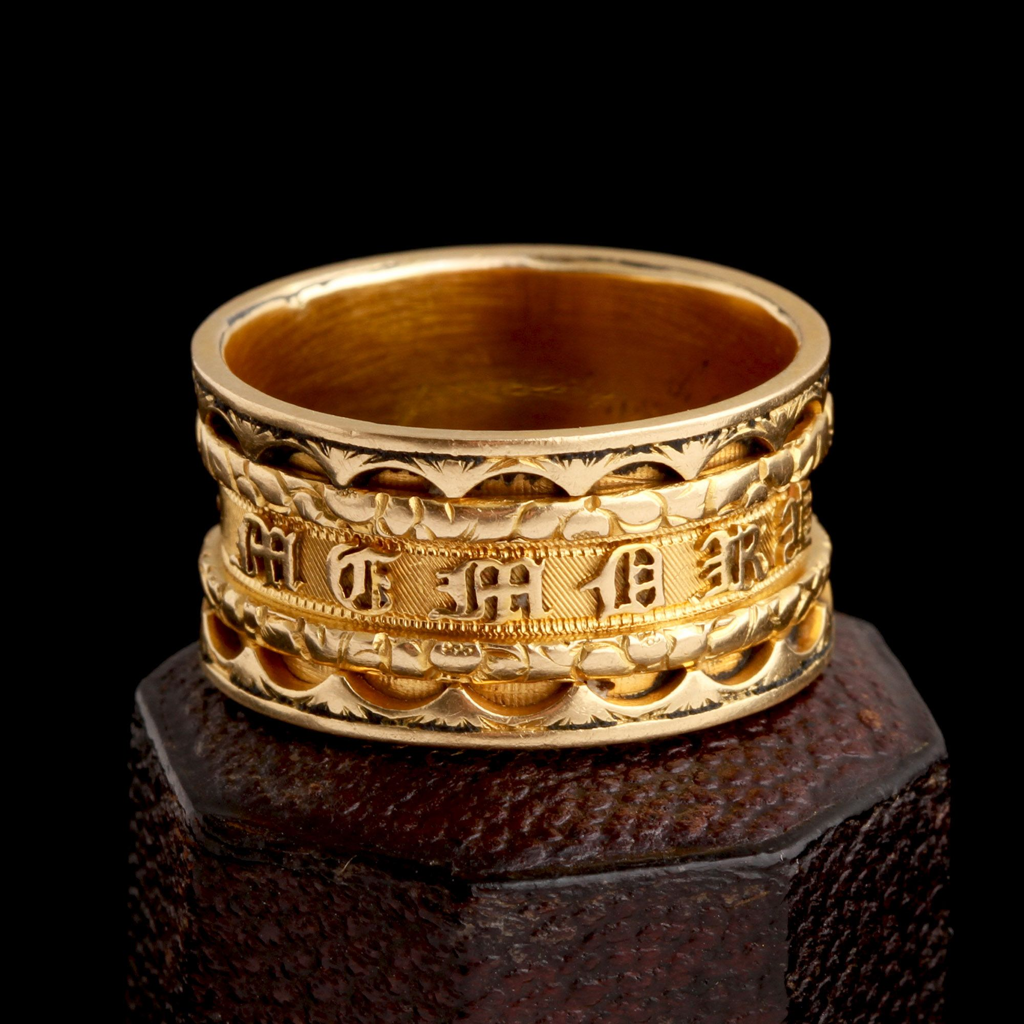 Georgian Mourning Ring for Mr. and Mrs. Gunnell