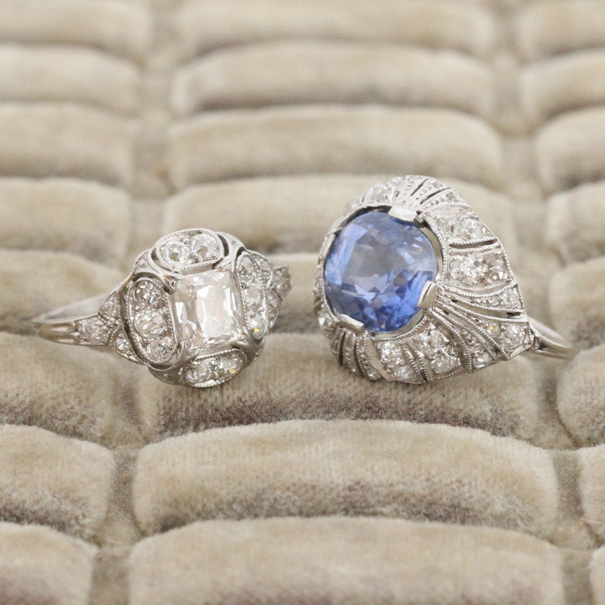 Edwardian 4.25ct Ceylon Sapphire and Diamond Ring