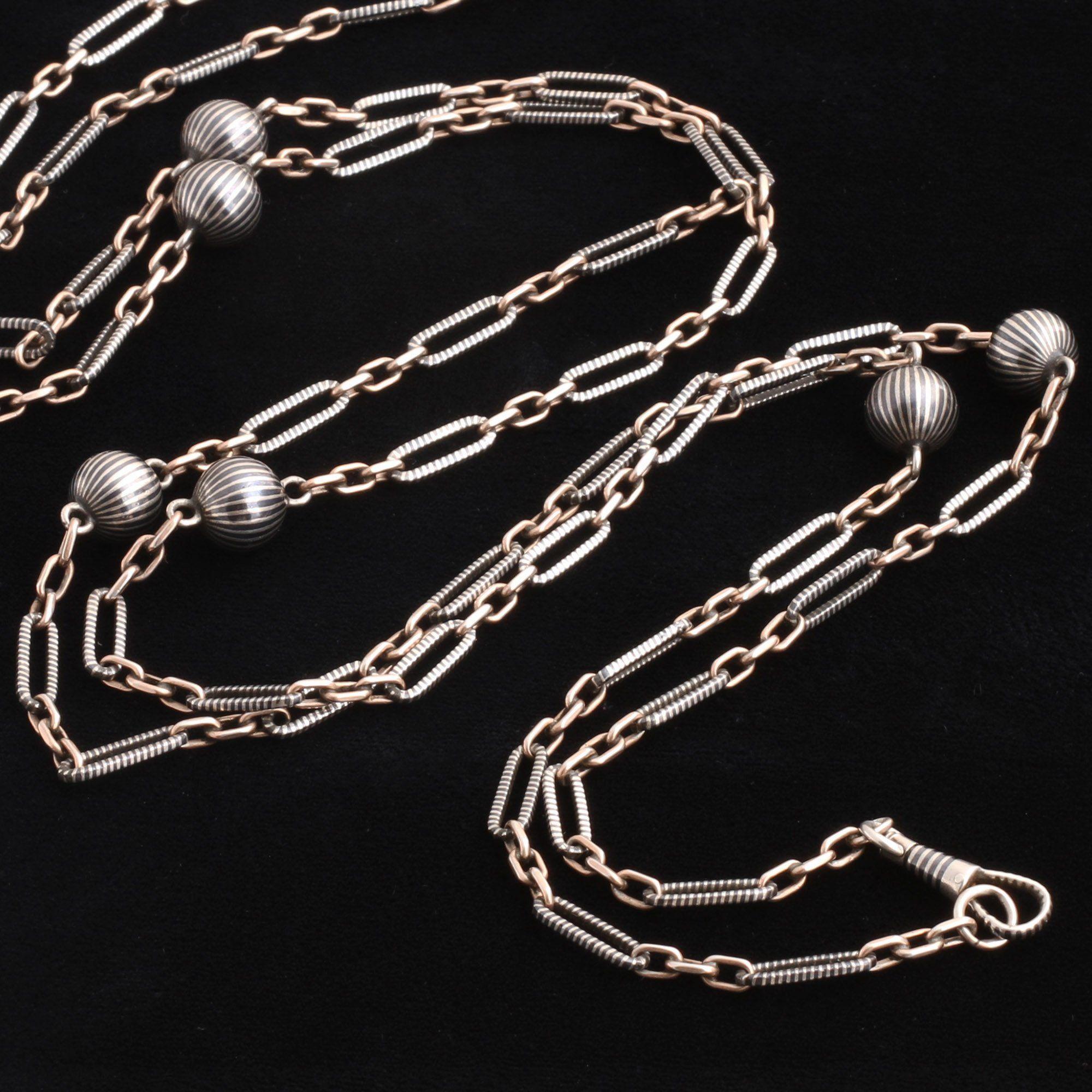 Victorian Niello Guard Chain