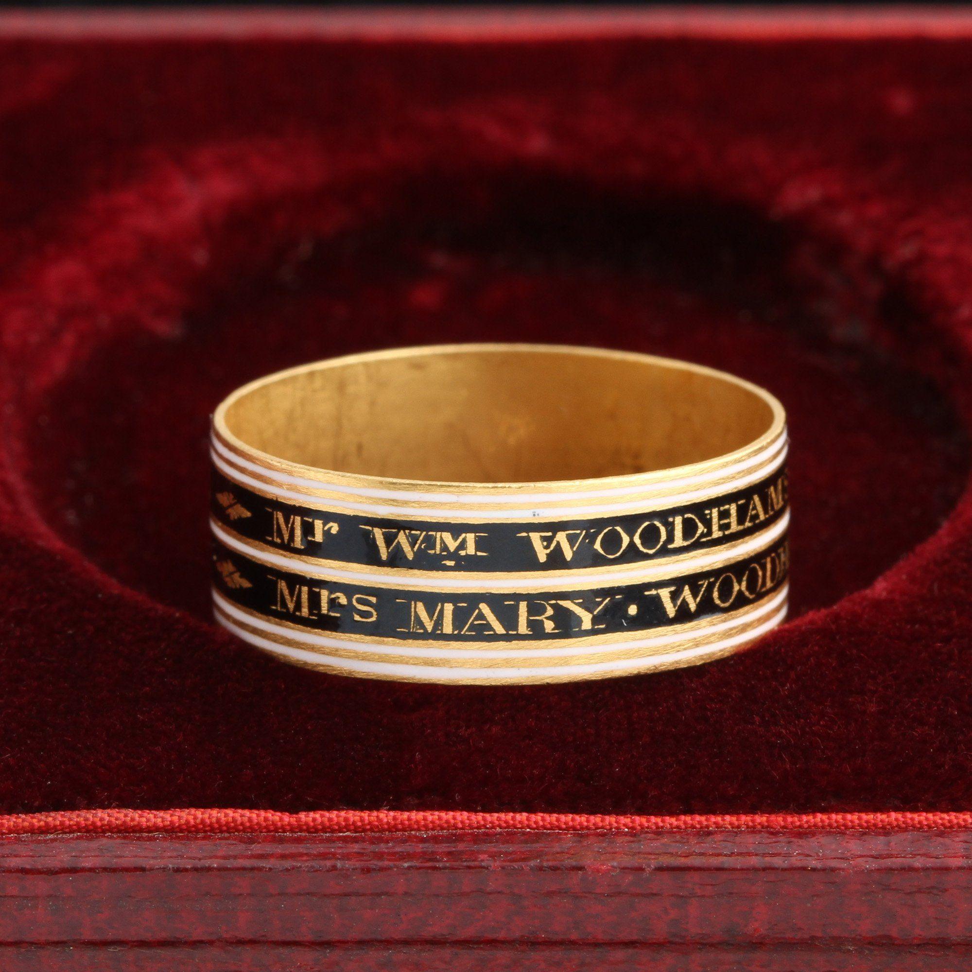 Georgian Husband & Wife Mourning Ring