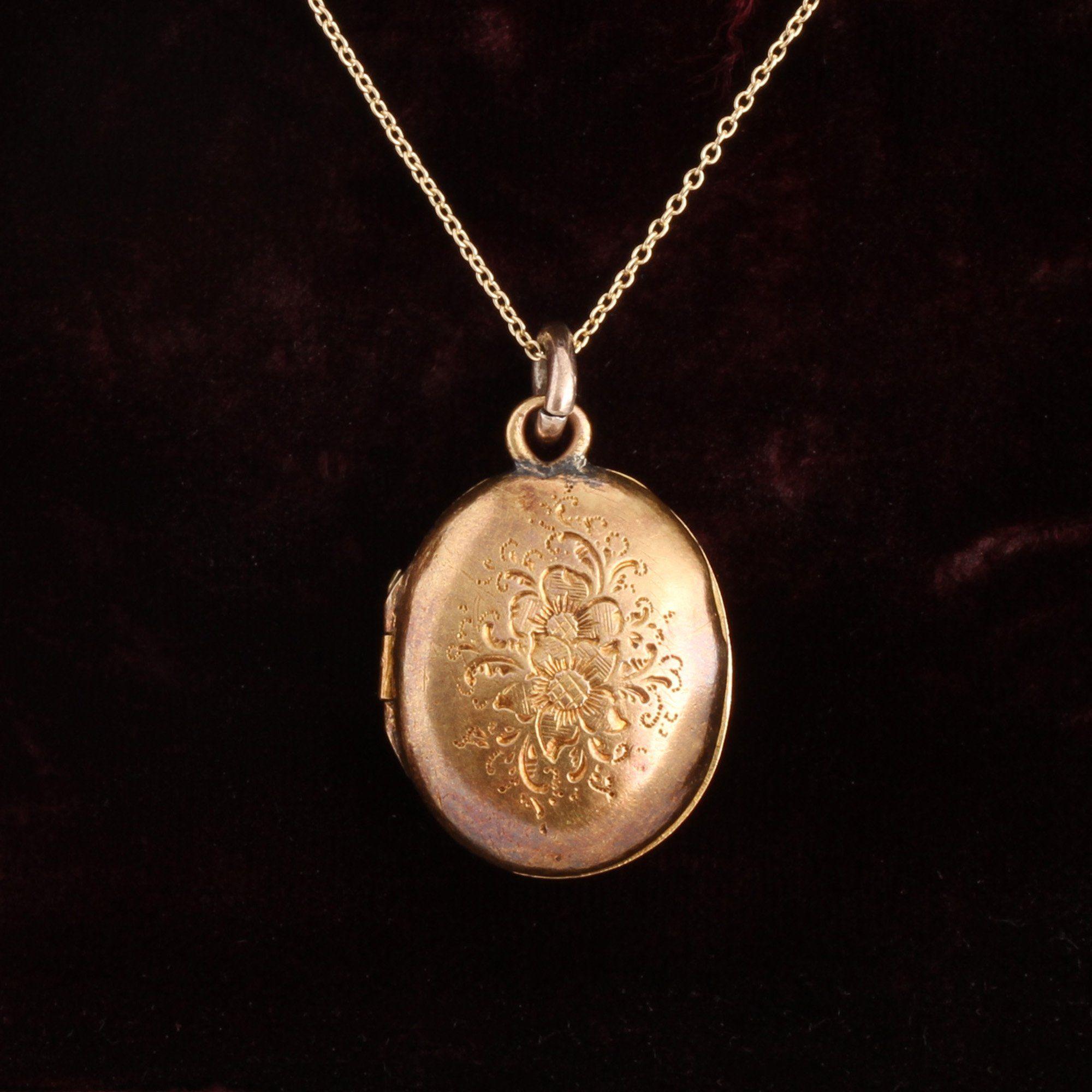 Victorian Garnet Heart Locket