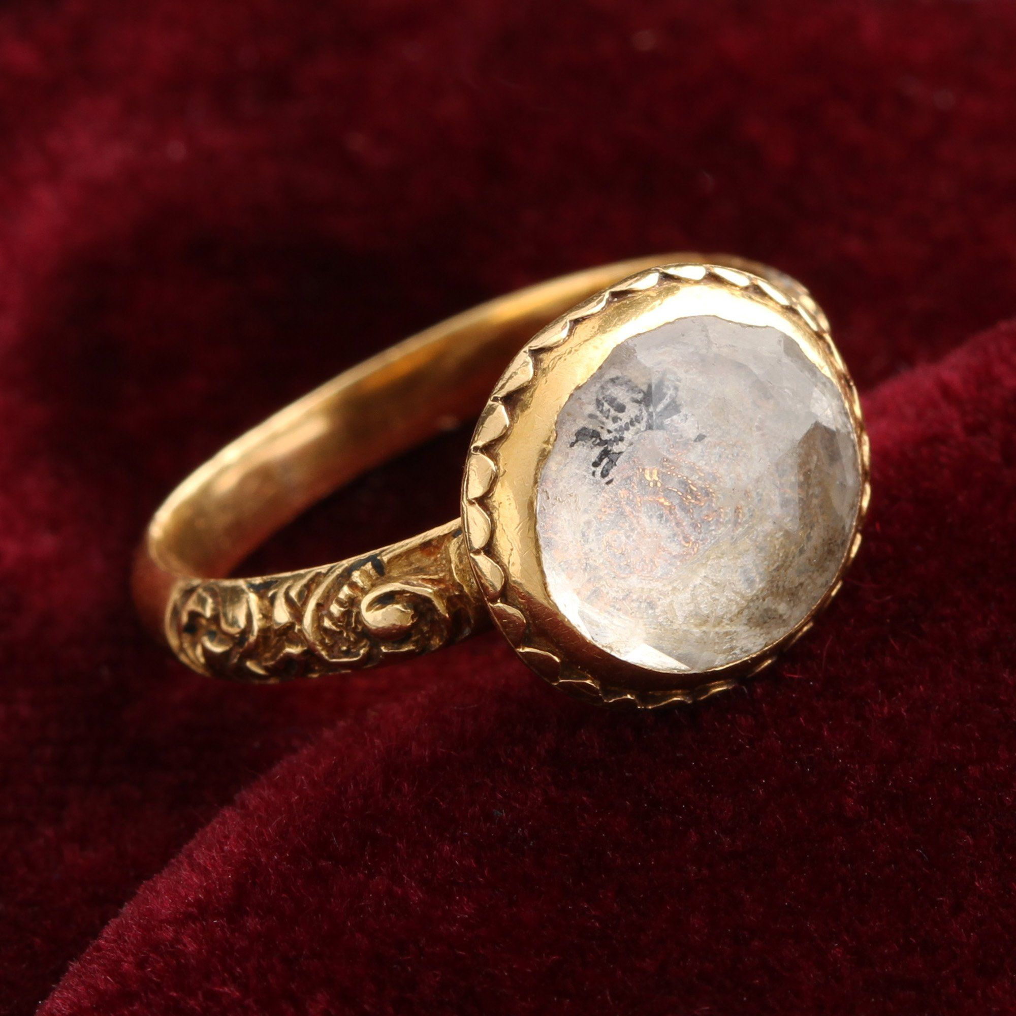 Stuart Crystal Skull Ring